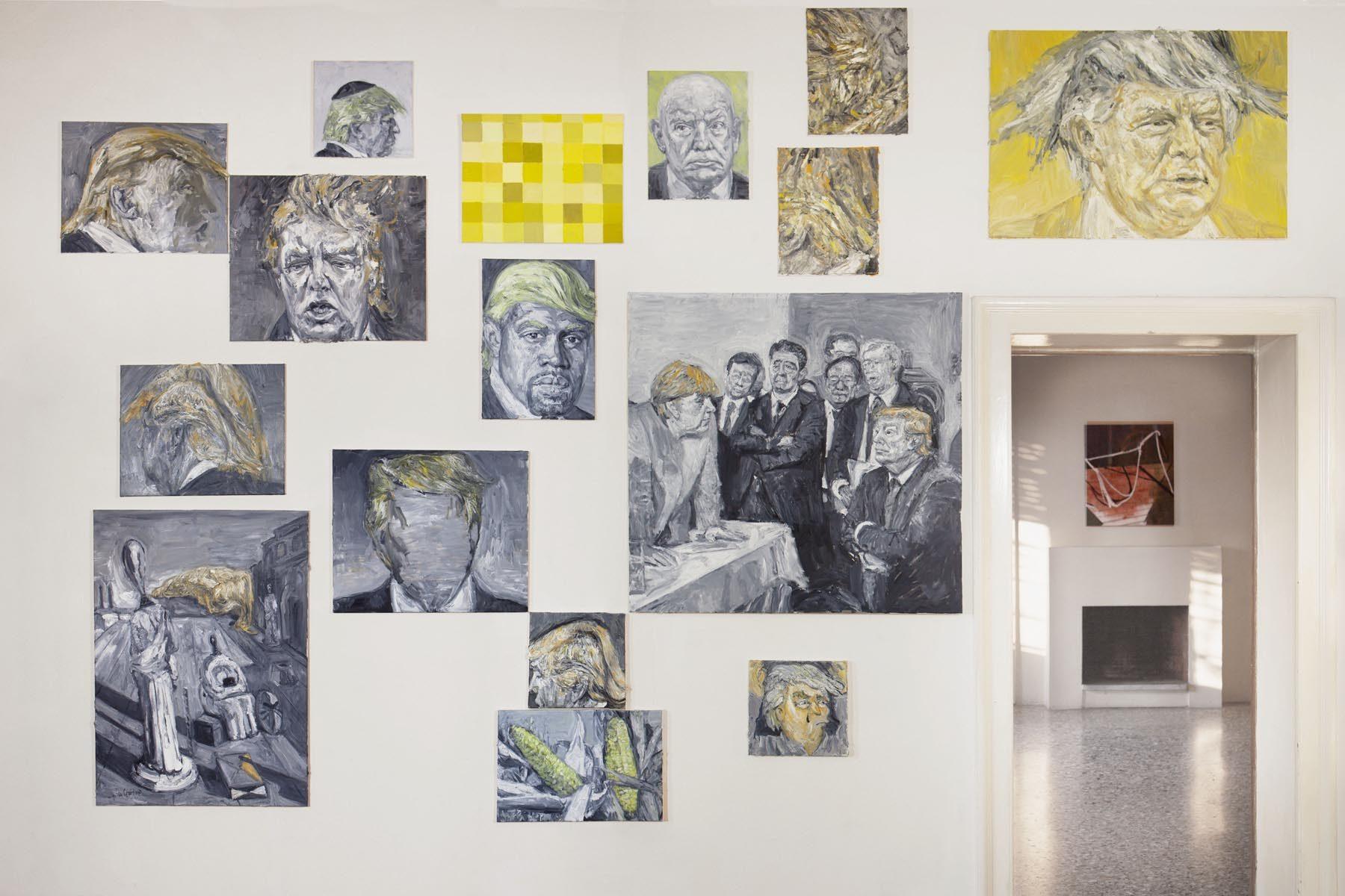 Graffiare il presente, vista della mostra (A. Velišček), Casa Testori, Novate Milanese