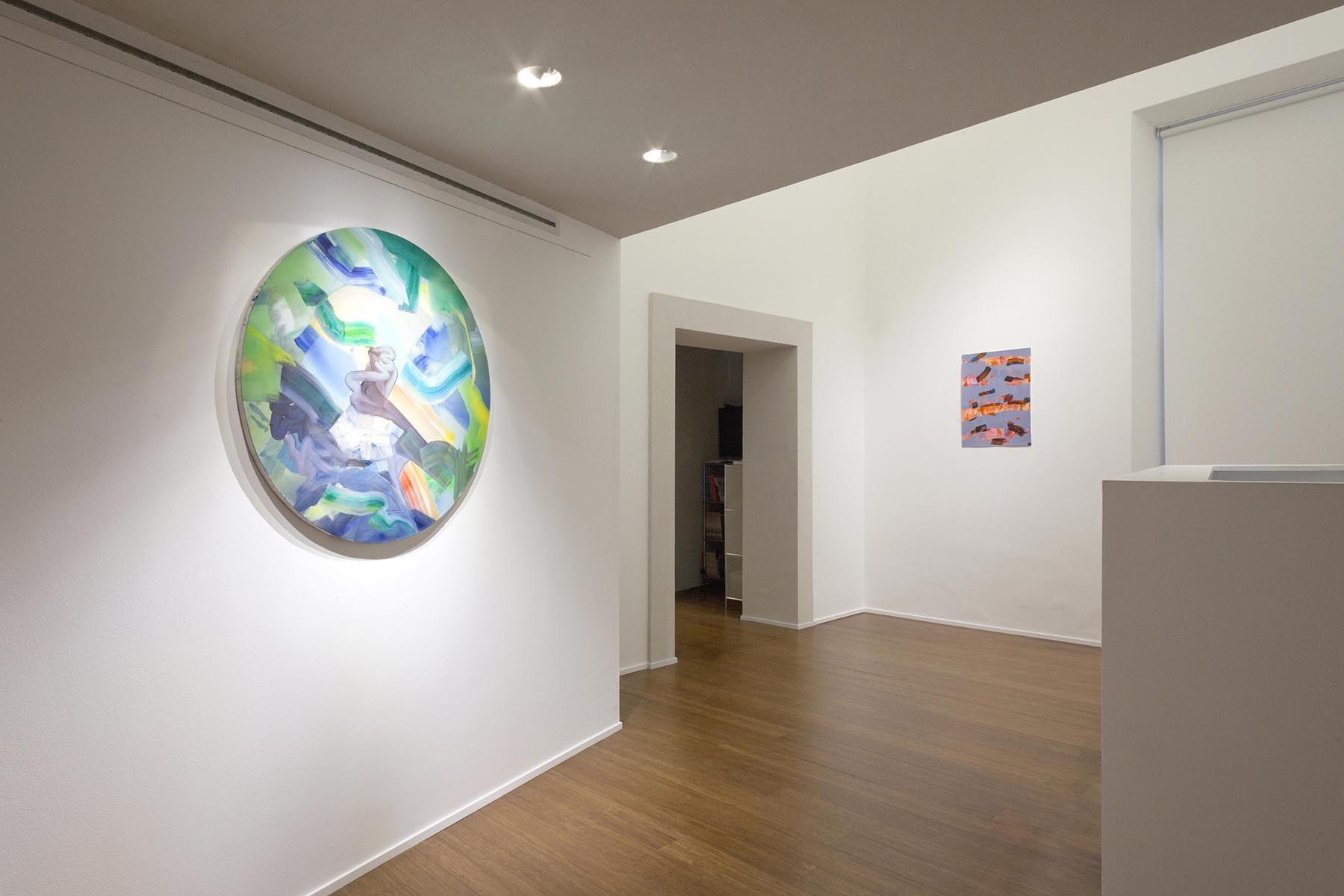 Isabella Nazzarri, Clinamen, 2017, installation view, ABC-Arte, Genoa