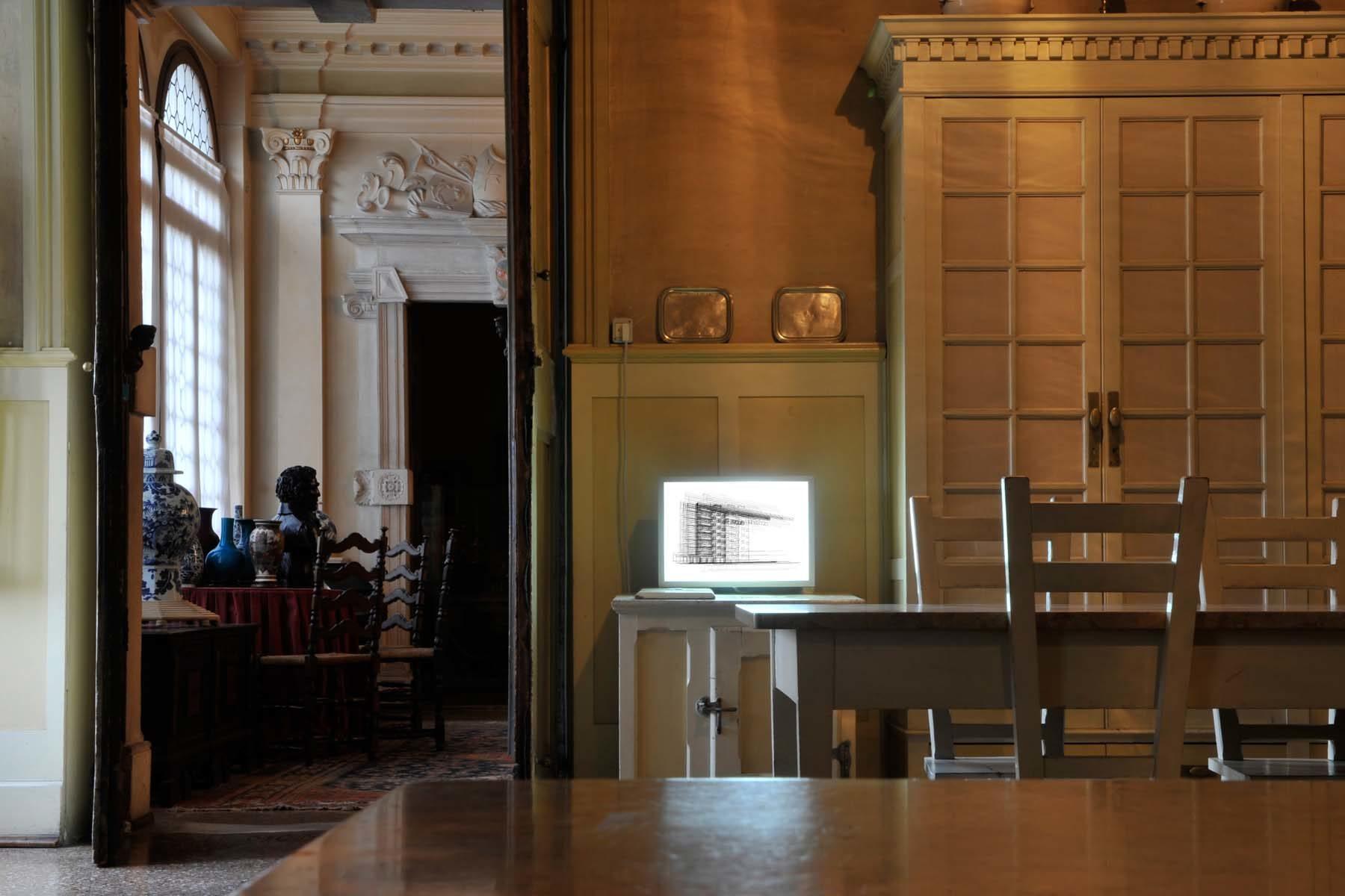 G. Dell'Antonia, Mentre cammino si spostano i luoghi, 2009, lightbox, 30 x 45 cm, ph. U. Egger