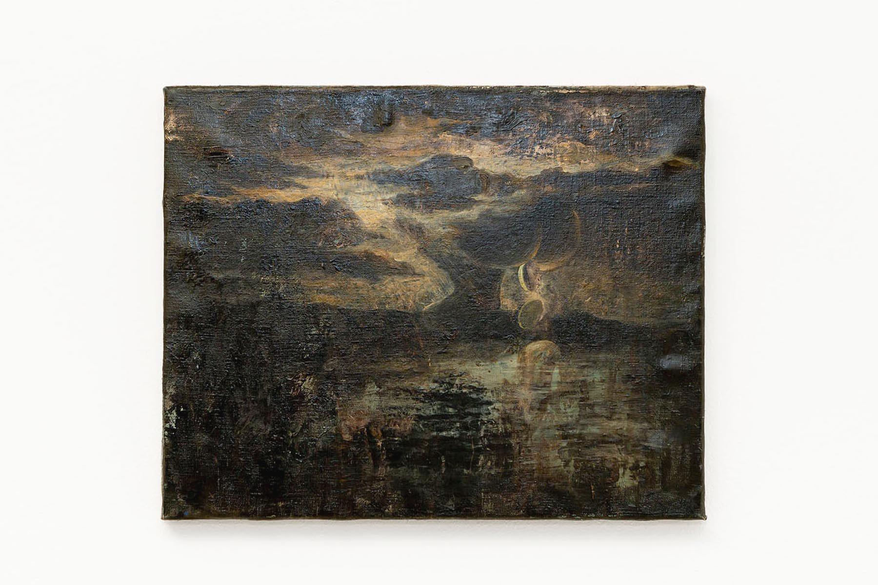 Giulio Malinverni, Cagaschei, 2018, oil on linen, 50 x 60 cm, ph. S. Longhi