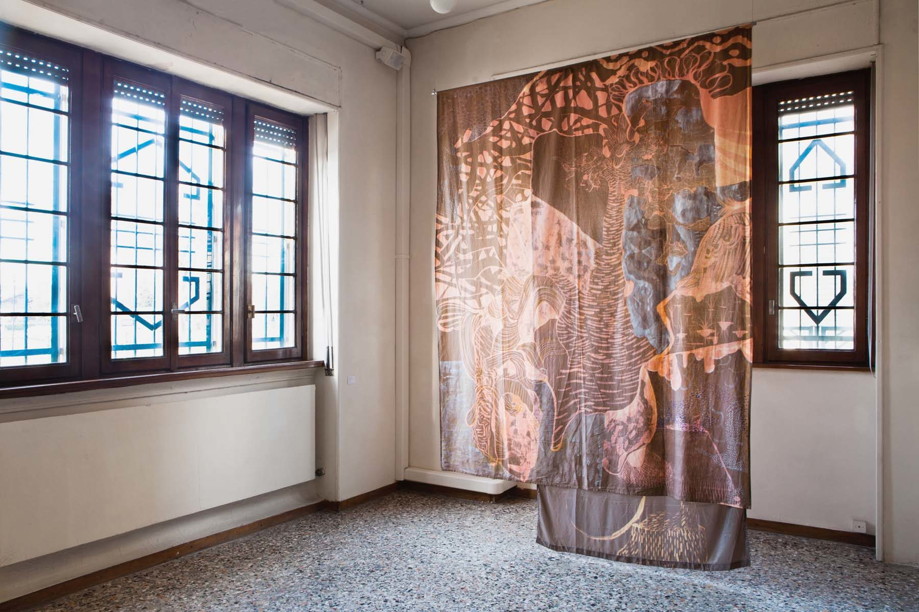 Graffiare il presente, vista della mostra (A. Roma), Casa Testori, Novate Milanese