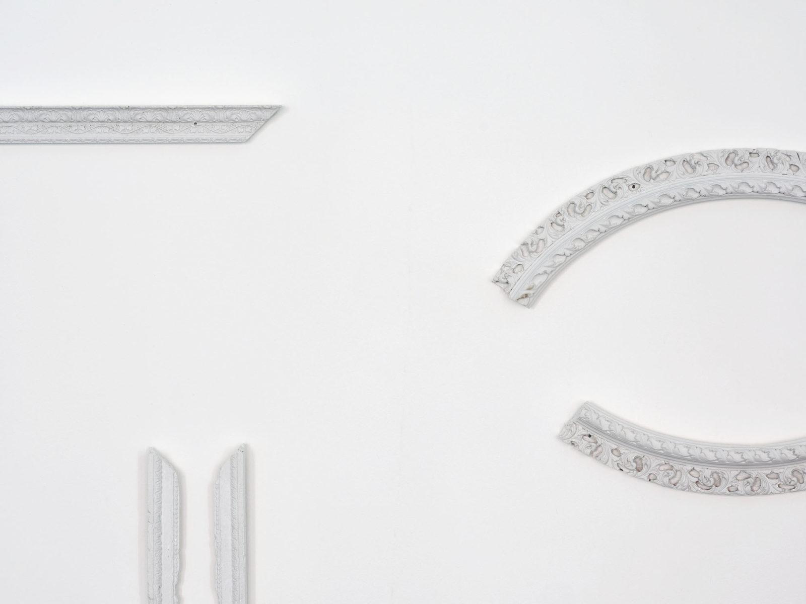 Penzo+Fiore, IlQuartoStato (det.), 2019, plaster frames, 2019, ph. G. Cecchinato