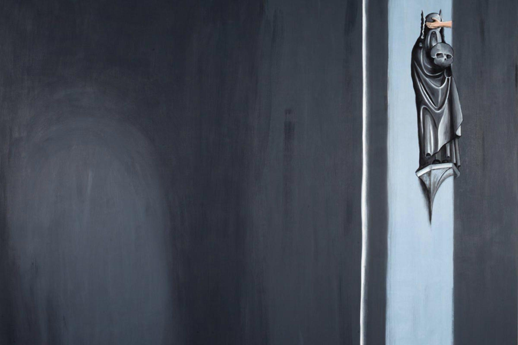 Enzo Cucchi, Contatto (det.), 2014, olio su tela, 182 x 218 cm, ph. F. Covre