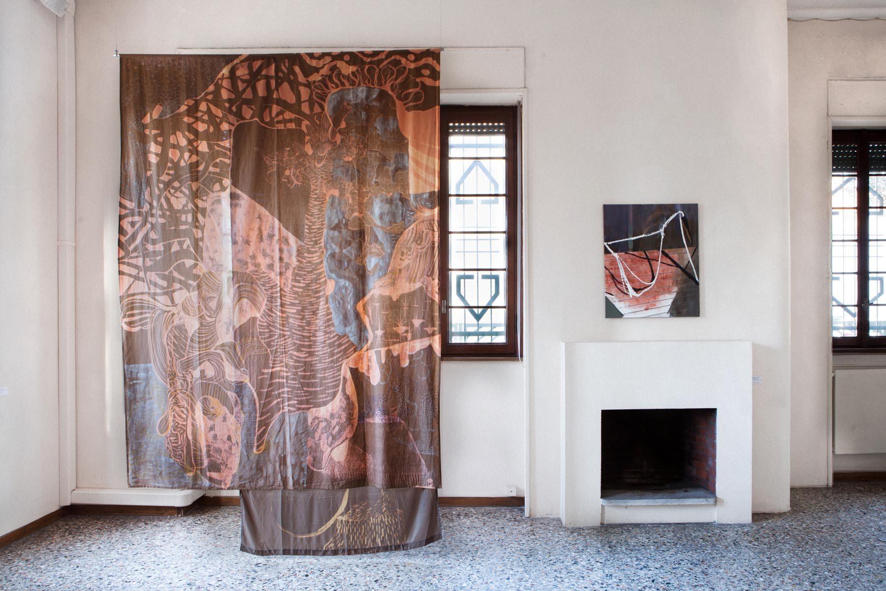 Graffiare il presente, vista della mostra (A. Roma, A. Scarabello), Casa Testori, Novate Milanese