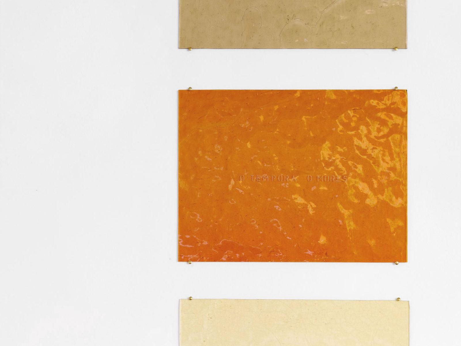 Penzo+Fiore, Rifrazioni diacroniche, (Alea iacta est, O tempora o mores, Sic semper tyrannis), 2019, engraved glass plates, ph. G. Cecchinato