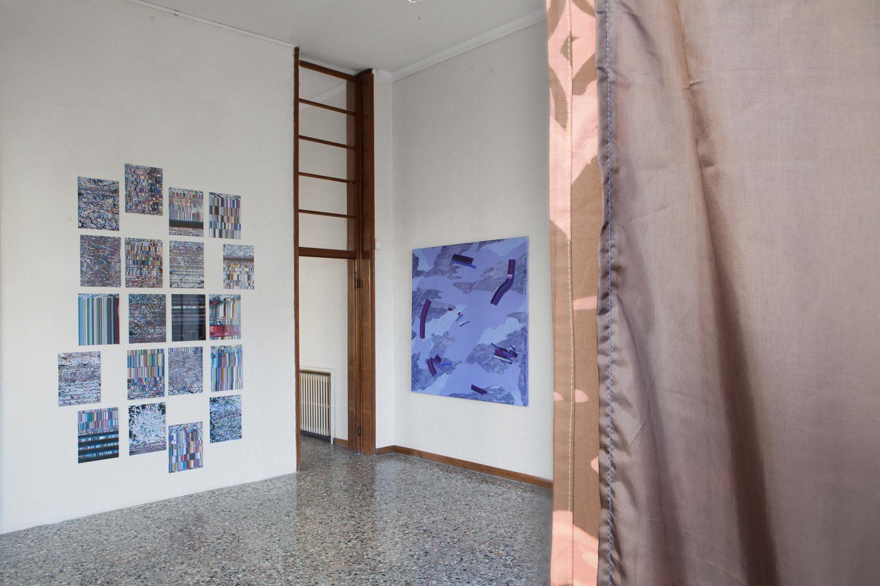 Graffiare il presente, vista della mostra (A. Calabrese, I. Nazzarri), Casa Testori, Novate Milanese
