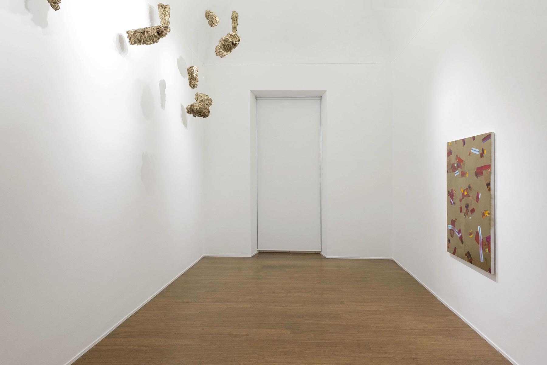 Isabella Nazzarri, Clinamen, 2017, installation view, ABC-Arte, Genoa