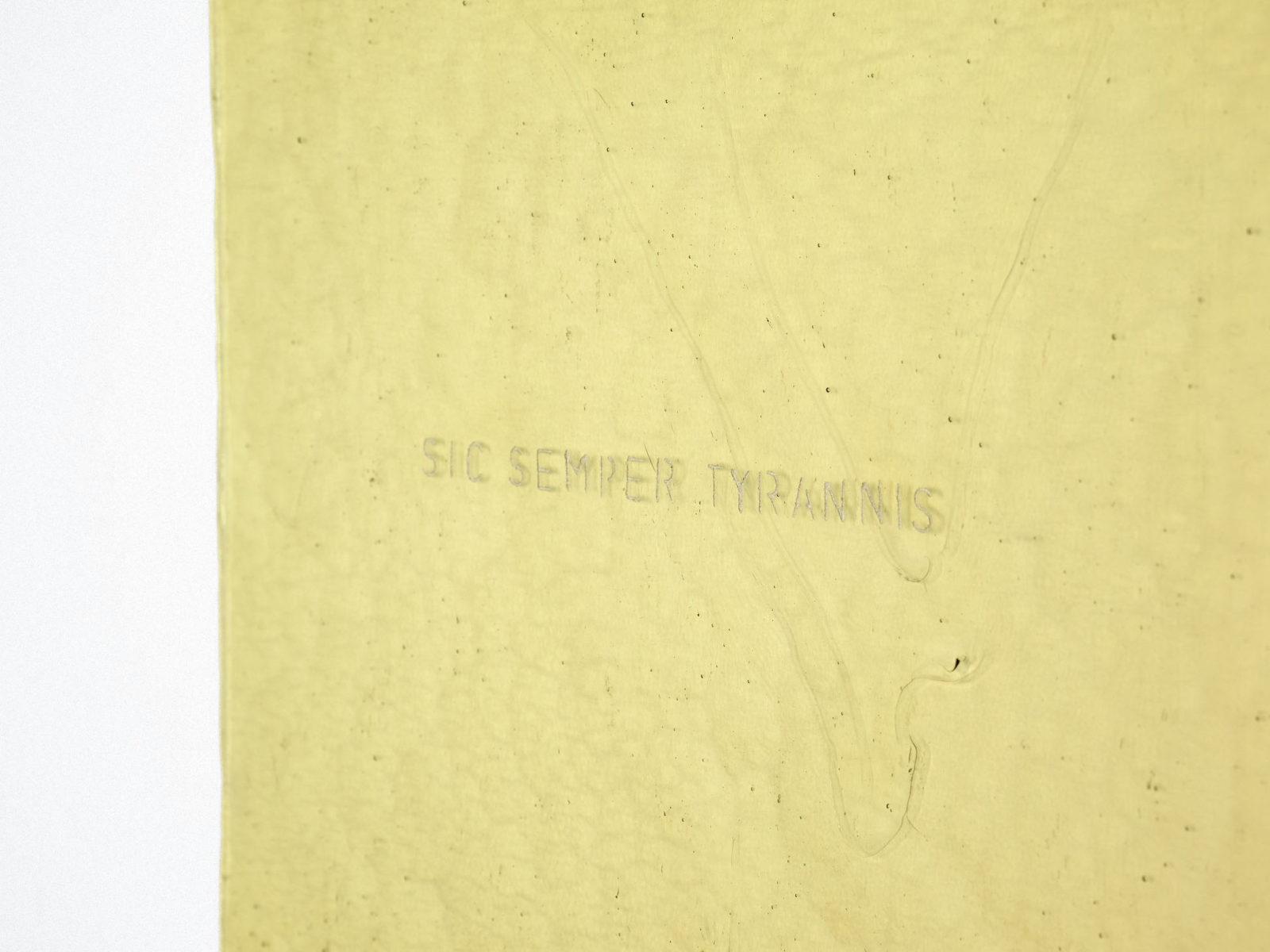 Penzo+Fiore, Rifrazioni diacroniche (Sic semper tyrannis), 2019, engraved glass plate, ph. G. Cecchinato