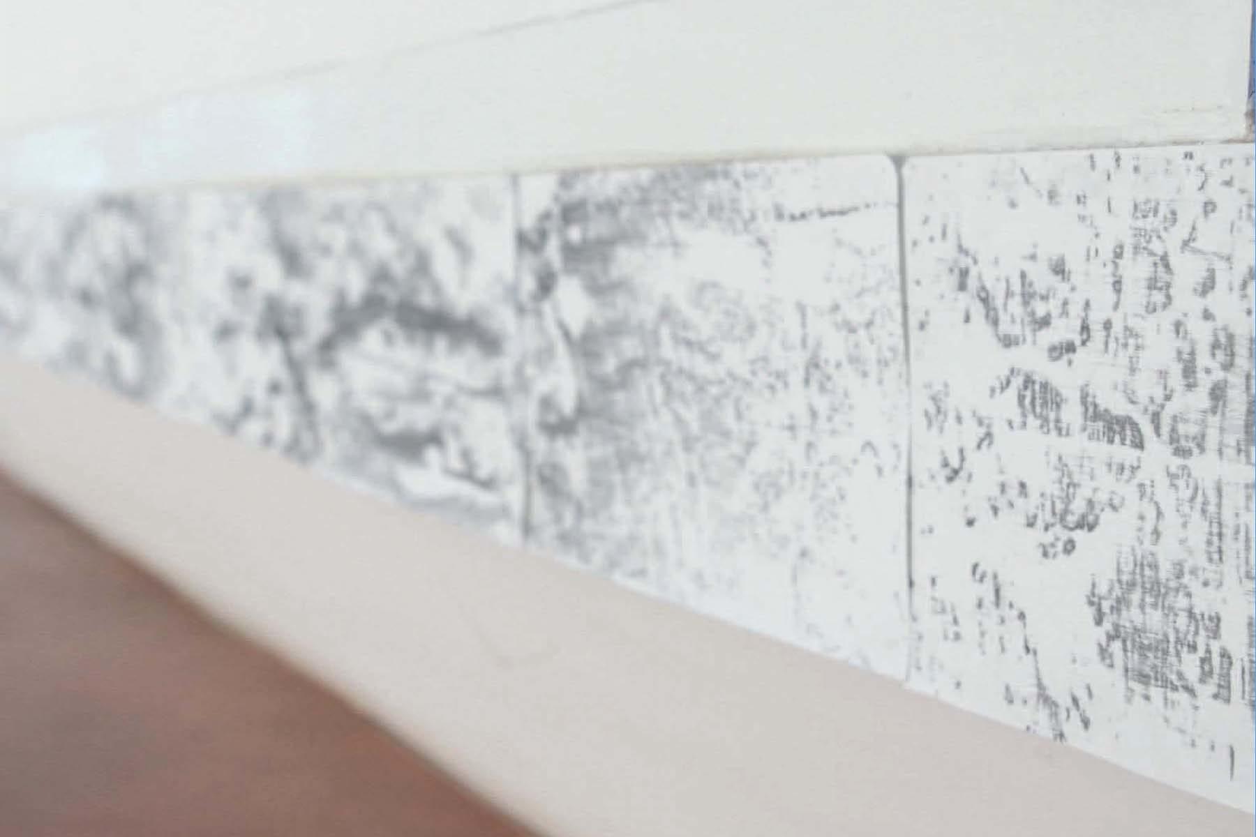 V. De Giovanelli, Come echi che a lungo e da lontano si confondono, 2015, installation, frottage, graphite on stone paper, 21 x 12 cm each