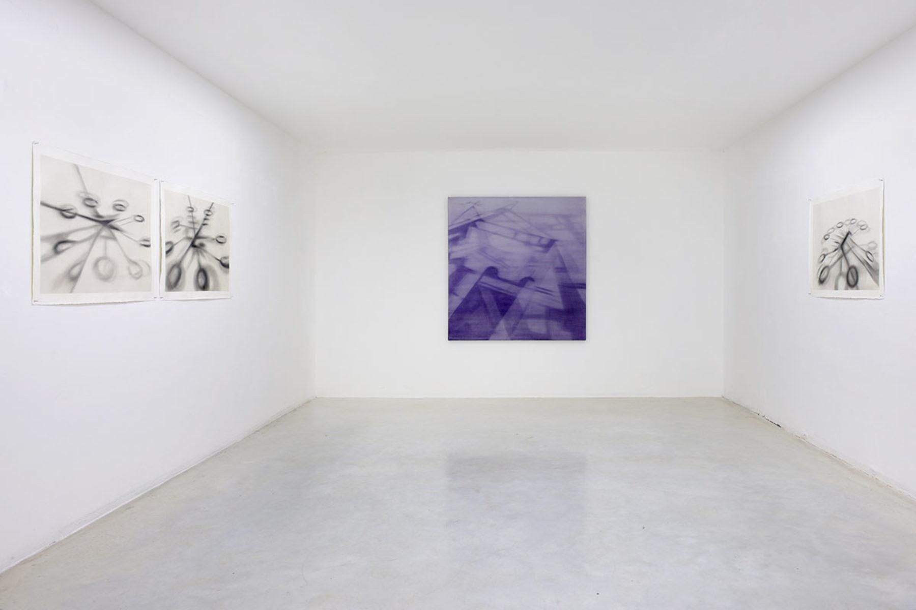 Antonio Marchetti Lamera, Tempo subìto, tempo anticipato, 2019, installation view, Studio la Città, Verona, ph. M.A. Sereni
