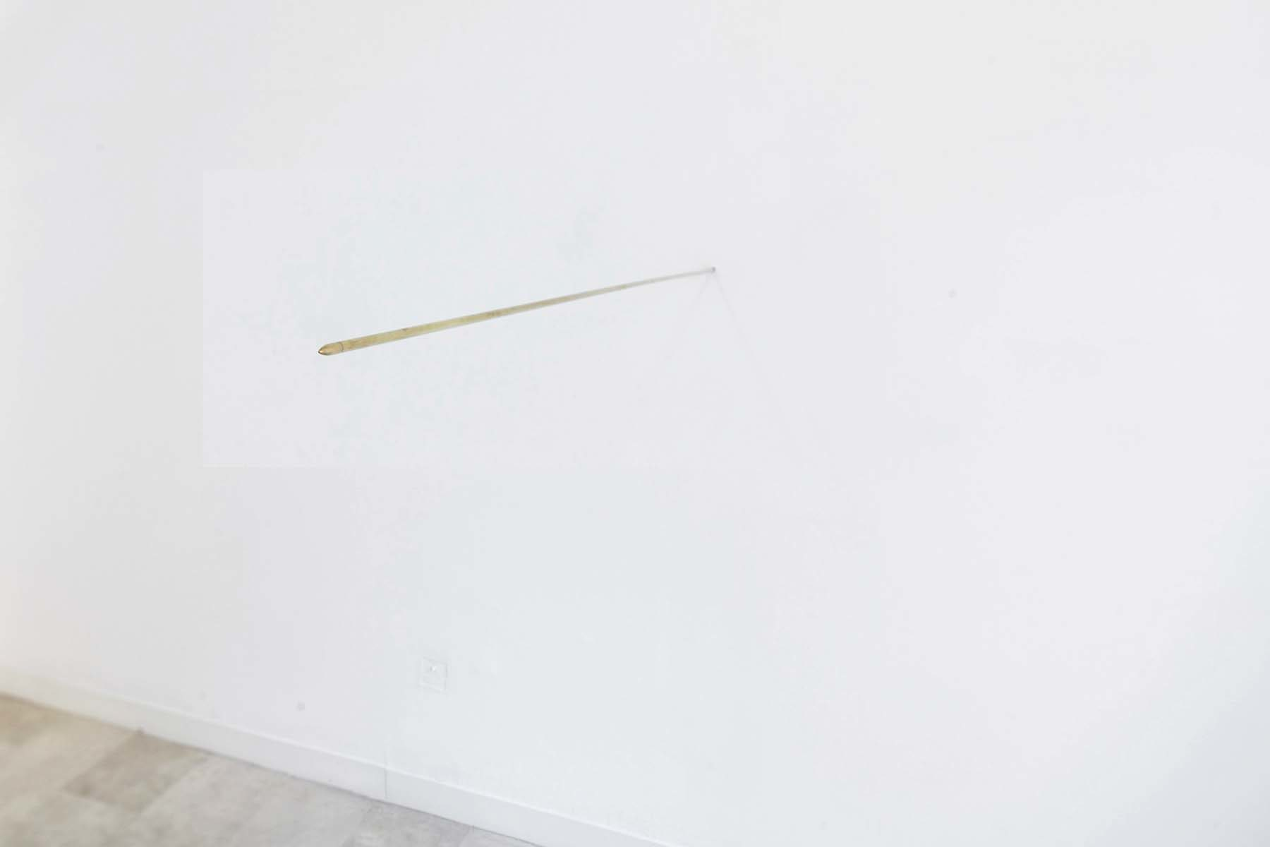 G. Morbin, Forza Nuova, 2005, bullett, brass, ∅ 0.8 cm x 160 cm