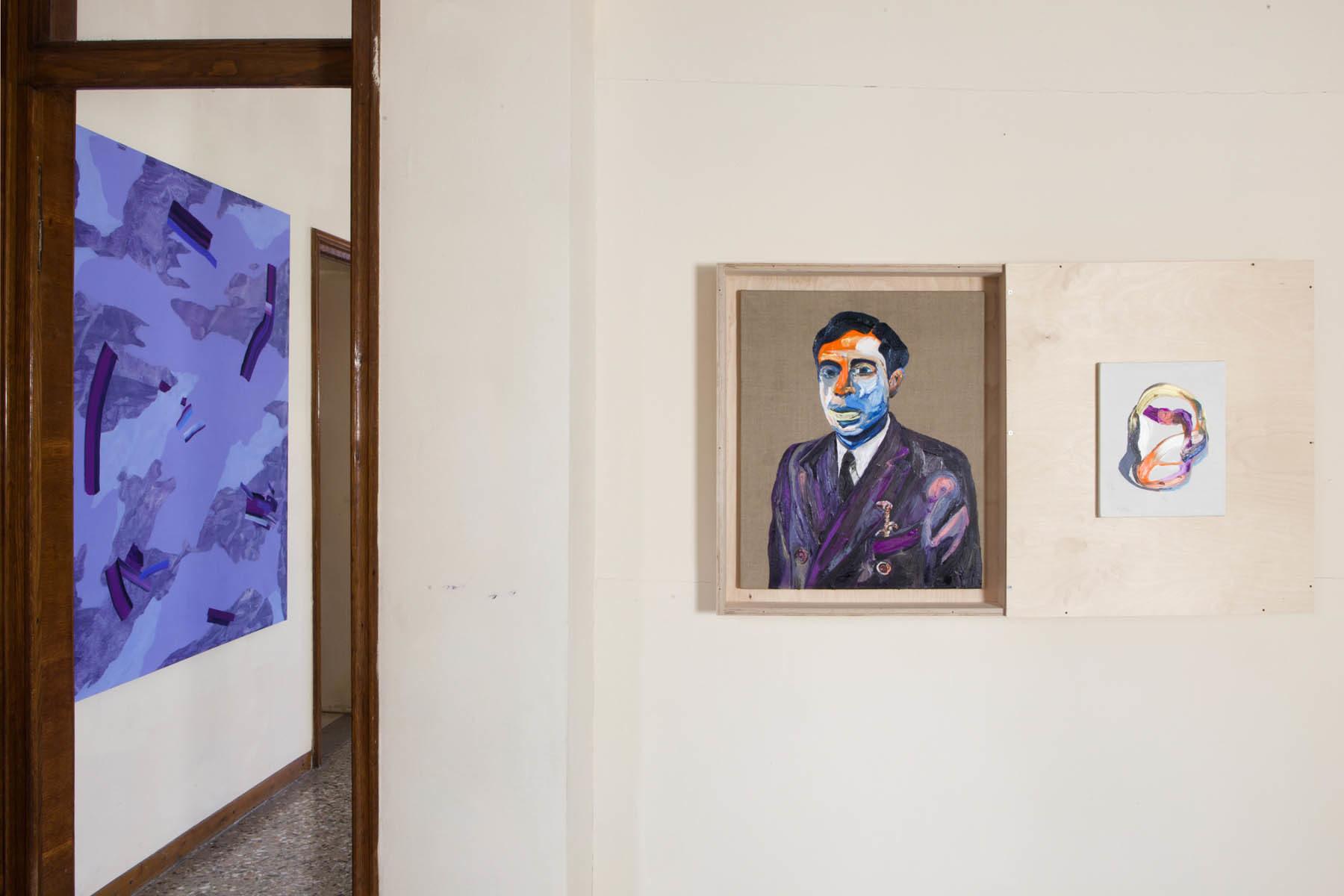 Graffiare il presente, vista della mostra (I. Nazzarri, M. Fato), Casa Testori, Novate Milanese