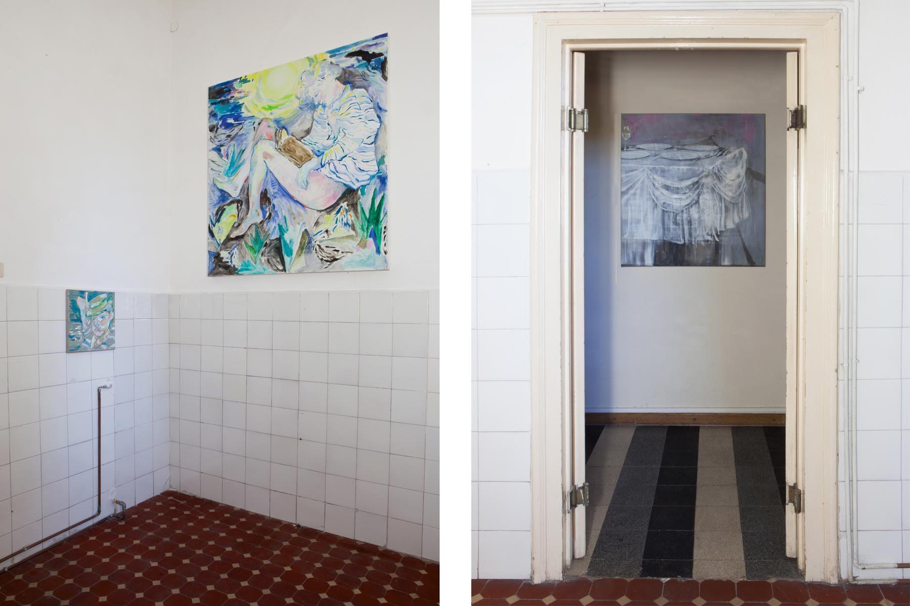 Graffiare il presente, vista della mostra (L. Boisi, A. Scarabello), Casa Testori, Novate Milanese