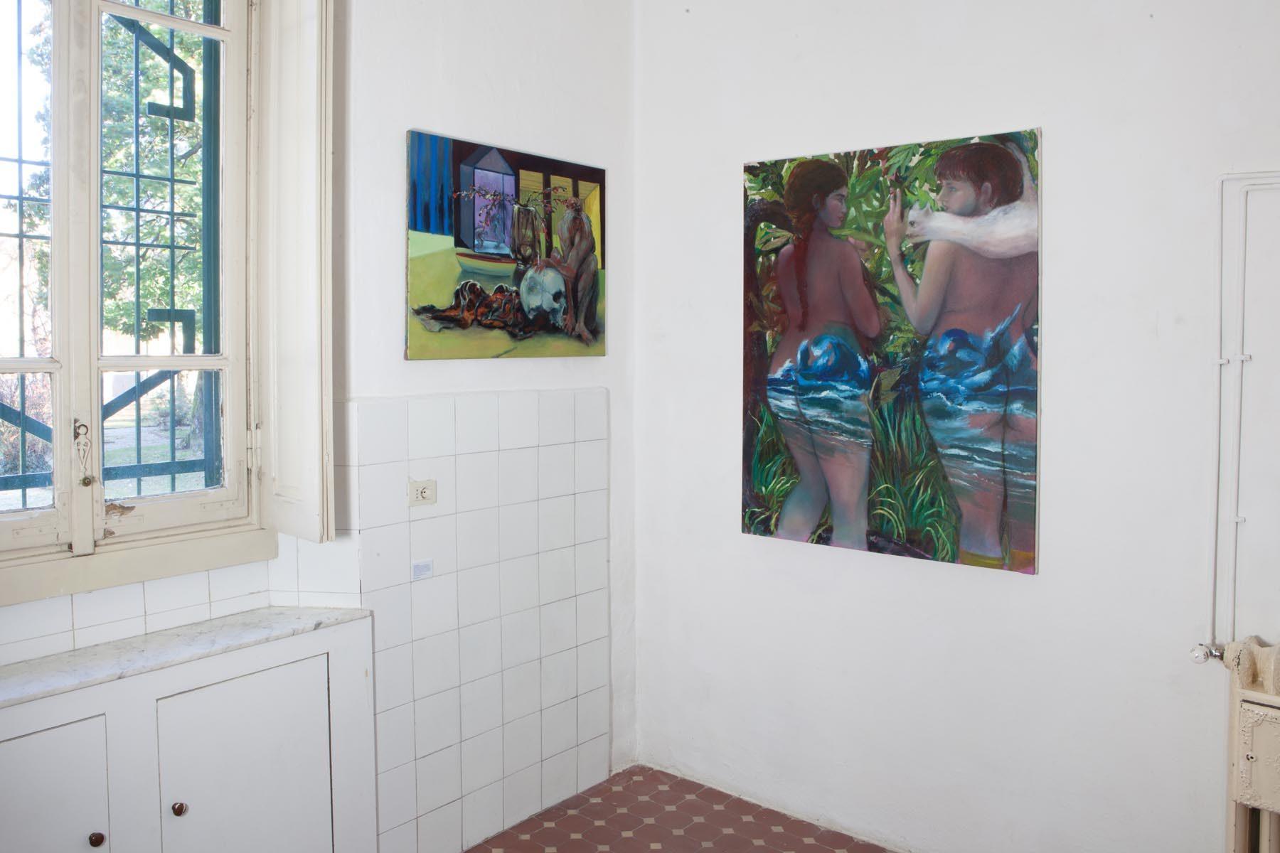 Graffiare il presente, vista della mostra (T. Braida), Casa Testori, Novate Milanese