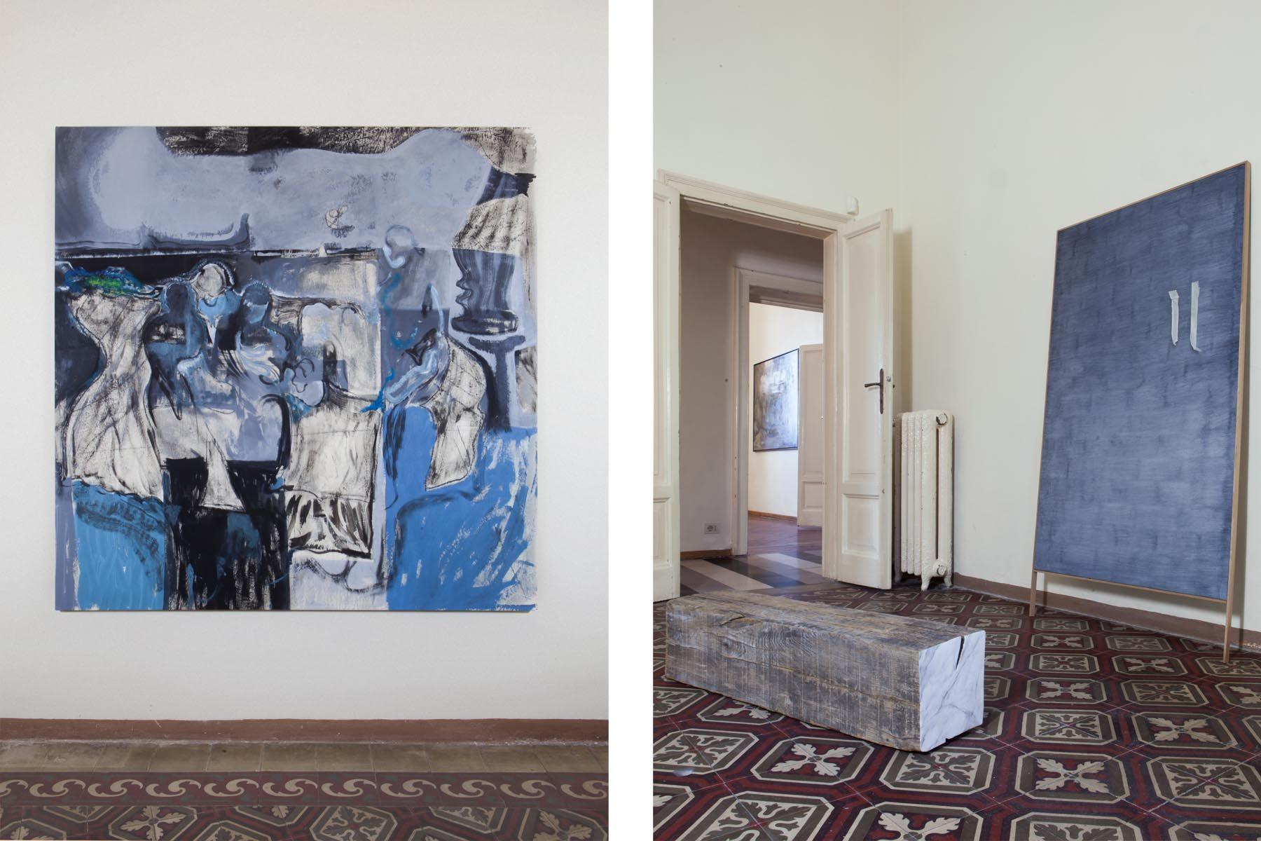Graffiare il presente, vista della mostra (N. Despotović, L. Carrara), Casa Testori, Novate Milanese