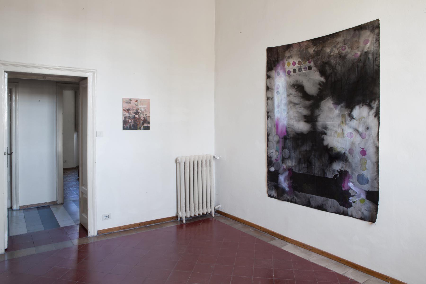 Graffiare il presente, vista della mostra (N. Poli Maramotti, C. Silva), Casa Testori, Novate Milanese