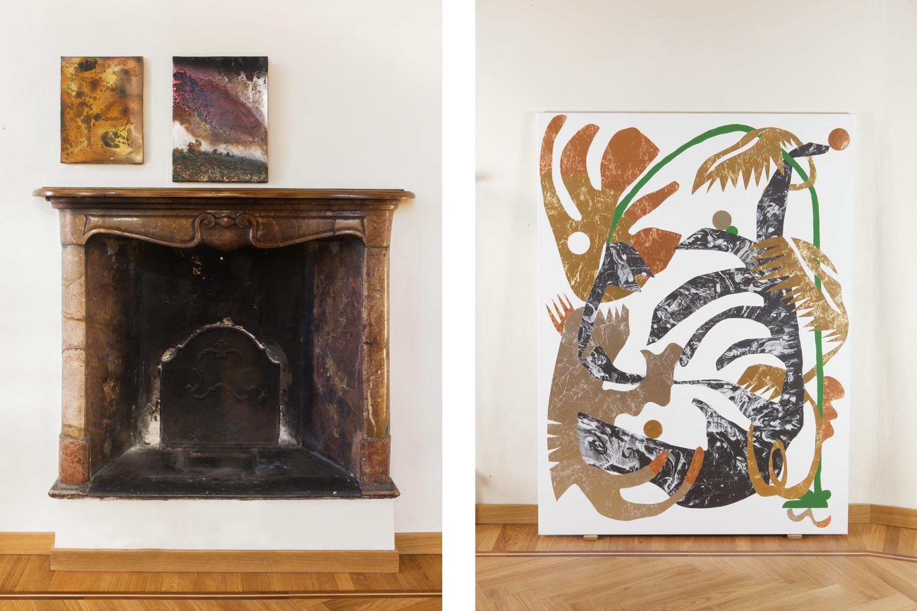 Graffiare il presente, vista della mostra (A. Kvas, F. Longhini), Casa Testori, Novate Milanese