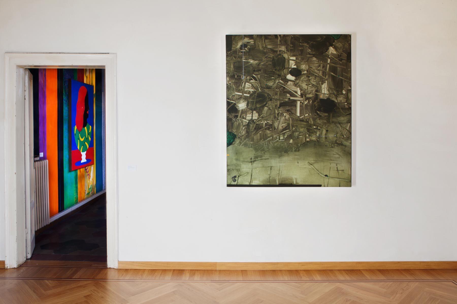 Graffiare il presente, vista della mostra (A. Iacurci, M. Baricchi), Casa Testori, Novate Milanese
