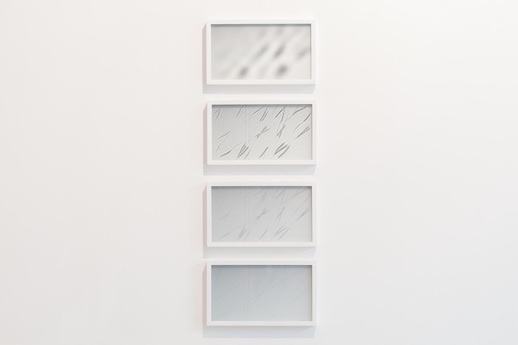 Michele Spanghero, Translucide, 2009-2017, inkjet print on paper, translucent glass, wood frame, 19 x 32 cm each