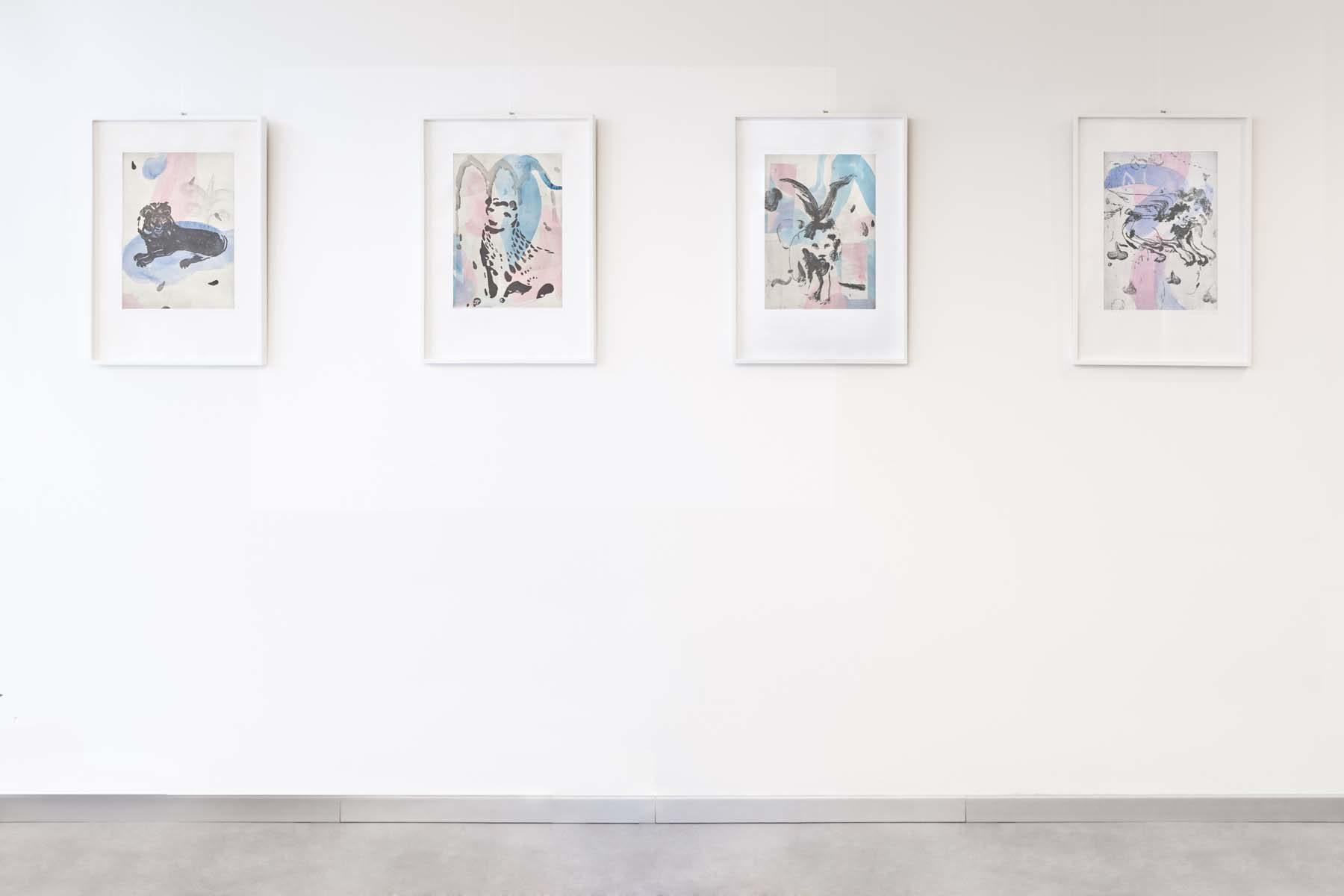 28. Raffaele Santillo, Pitture in attesa, vista della mostra, Ag. Generali, Pordenone, ph. N. Covre