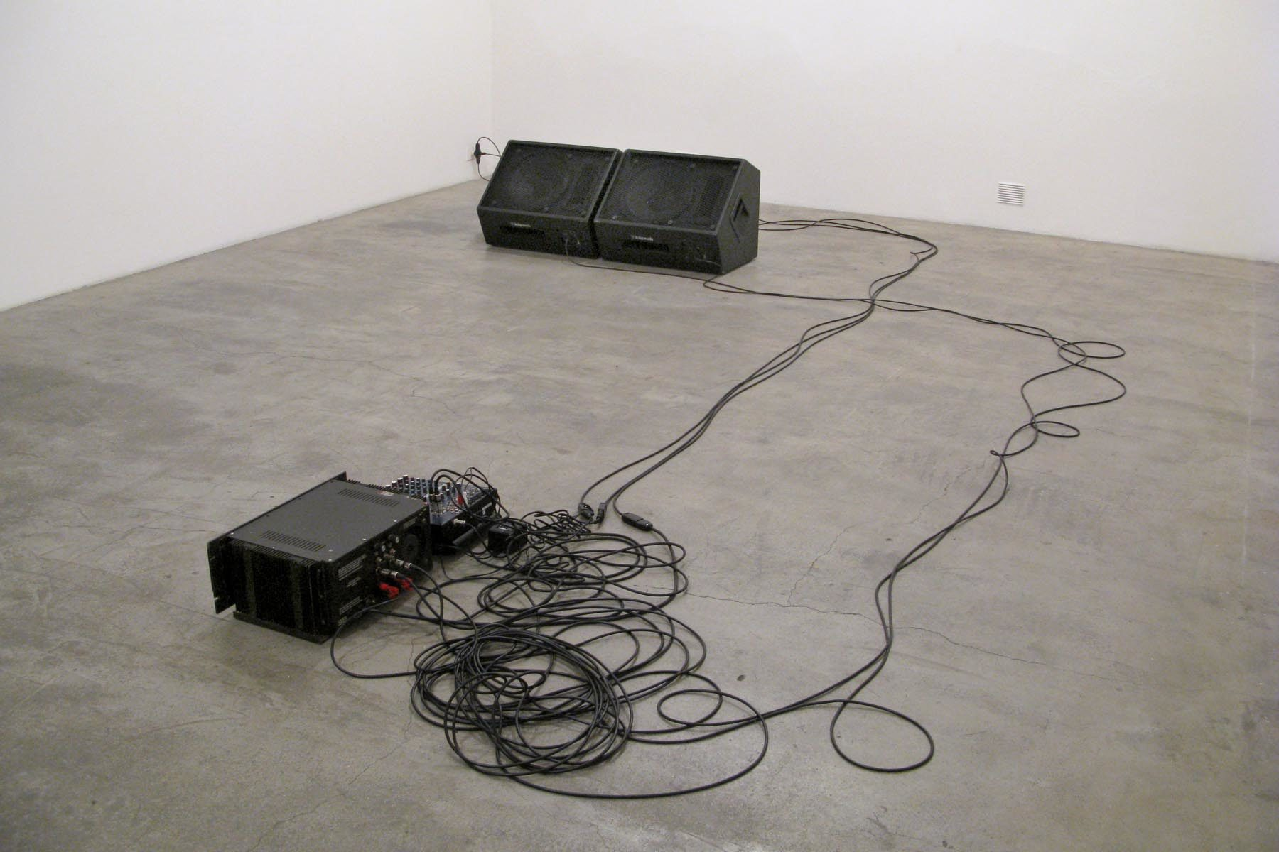 A. Tadiello, 20 kHz, 2008, exhibition view, Studio Tommaseo, Trieste