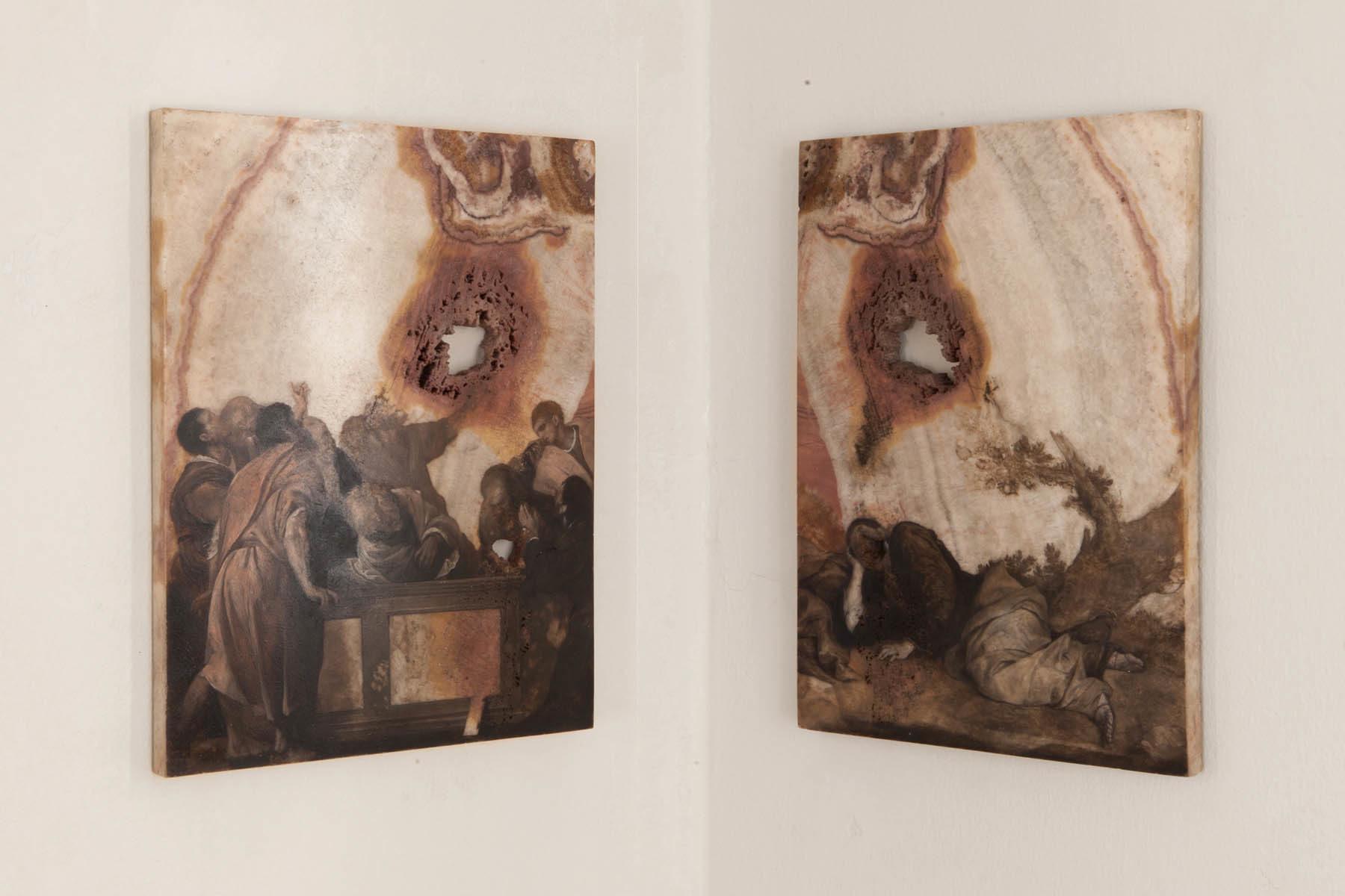 Graffiare il presente, vista della mostra (N. Samorì), Casa Testori, Novate Milanese