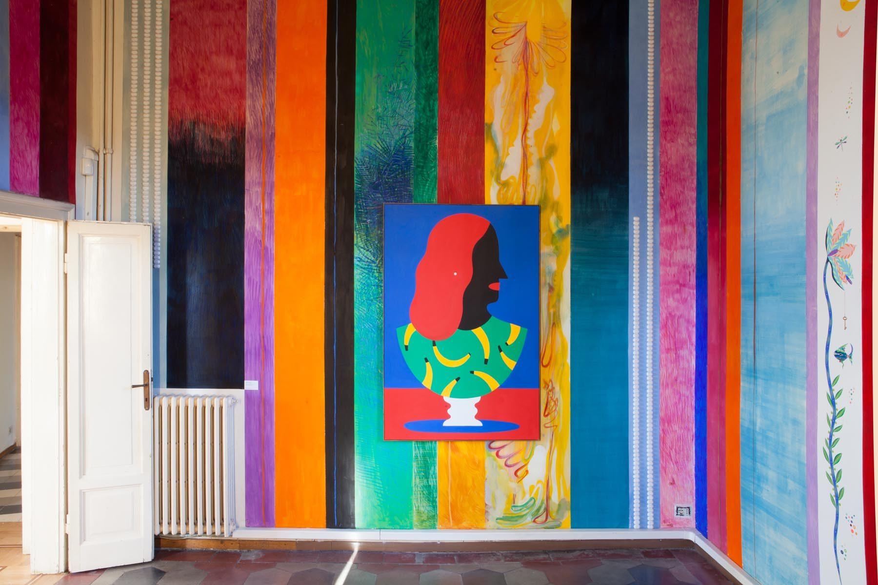 Graffiare il presente, vista della mostra (A. Iacurci), Casa Testori, Novate Milanese