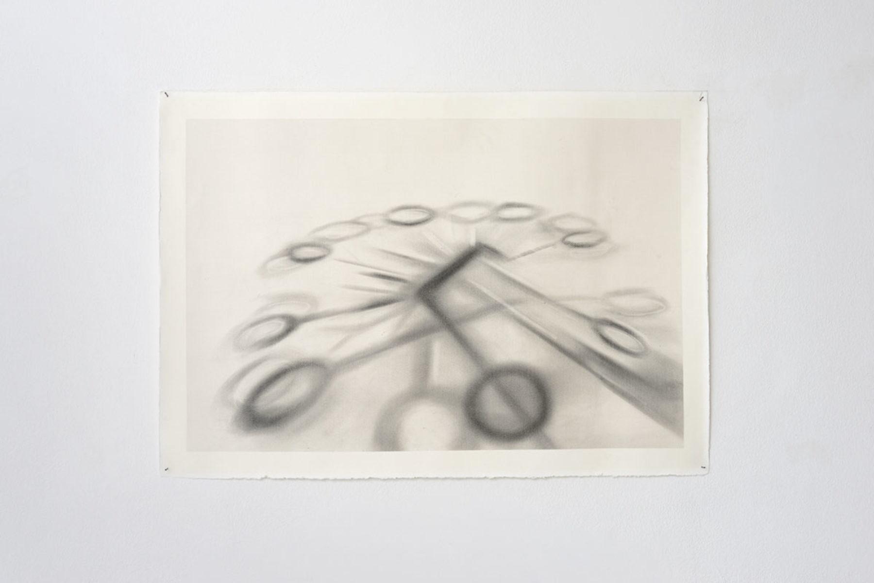 Antonio Marchetti Lamera, Raggi ombrosi, 2019, graphite on paper, 70 x 100 cm, Studio la Città, Verona, ph. M.A. Sereni