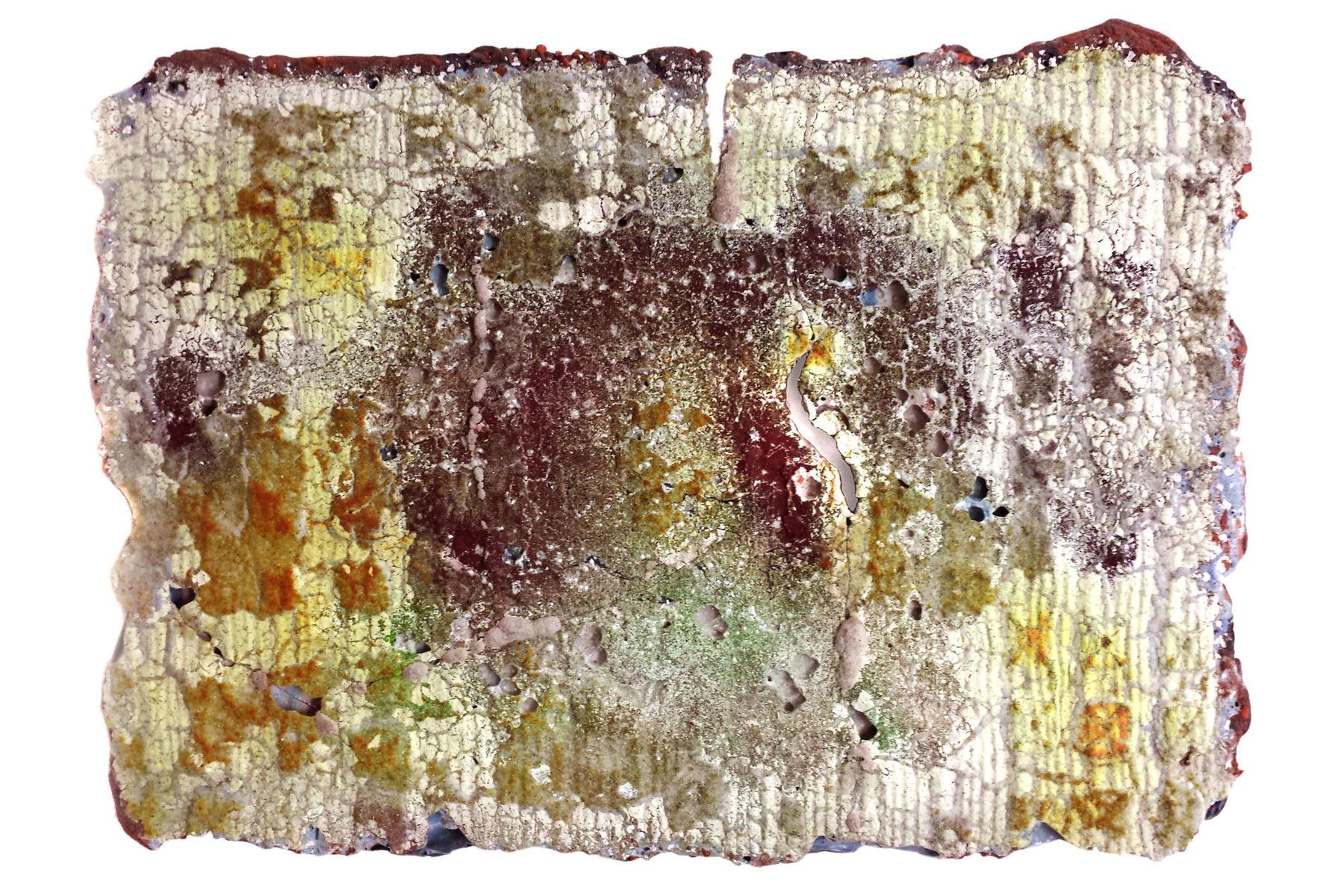 Alberto Scodro, Autumn #9, 2015, sand, glass, pigments, oxids, 57 x 41 x 4 cm