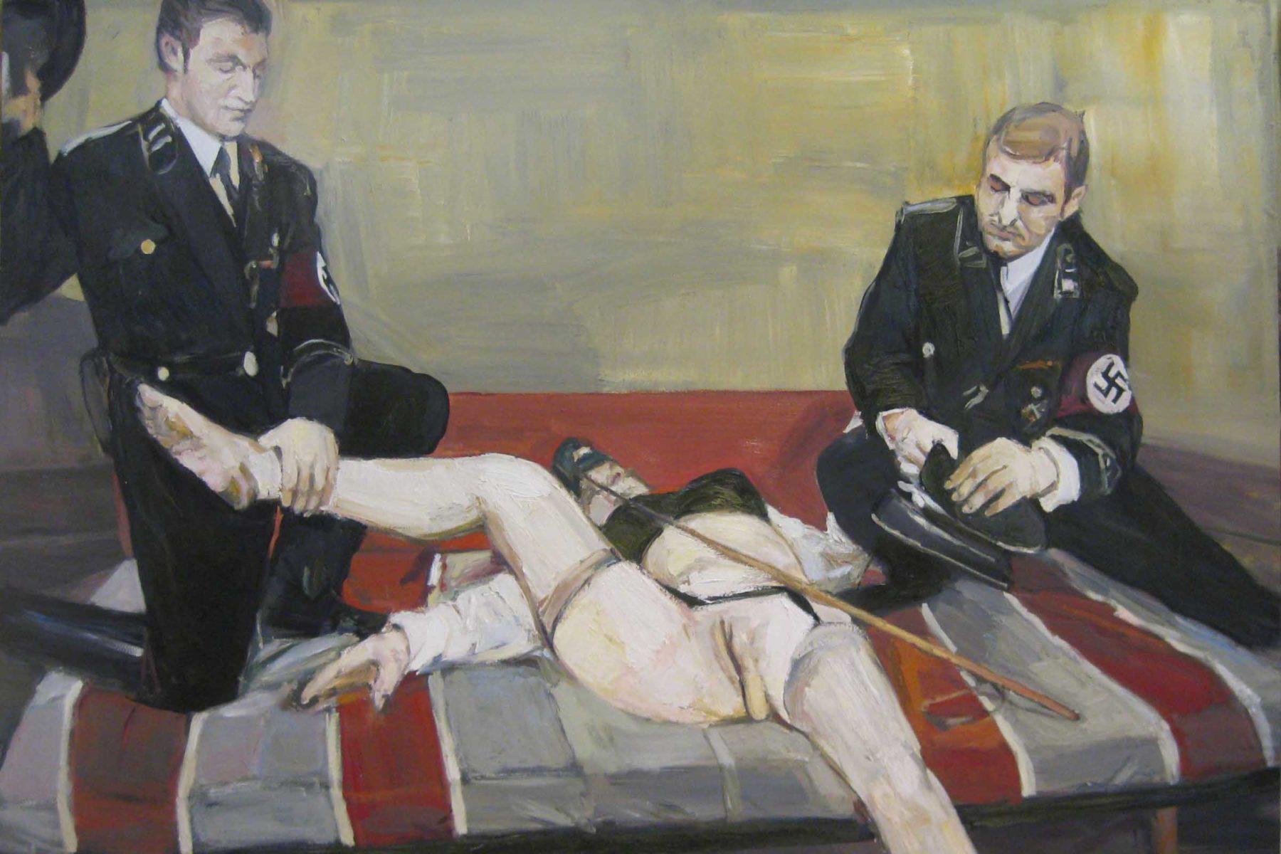 Aleksander Veliscek, Brownie Queen, 2011, oil on canvas, 200 x 160 cm
