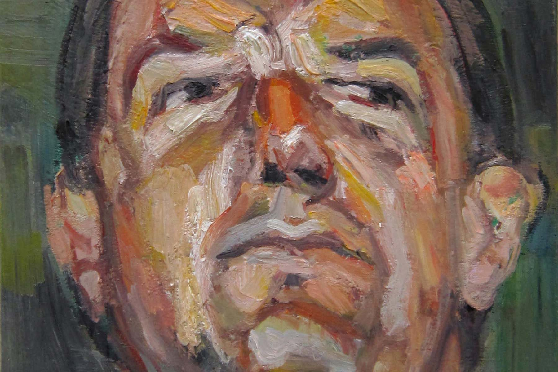 Aleksander Veliscek. 80,84 m (P. Kozmus), 2012, oil on canvas, 50 x 70 cm