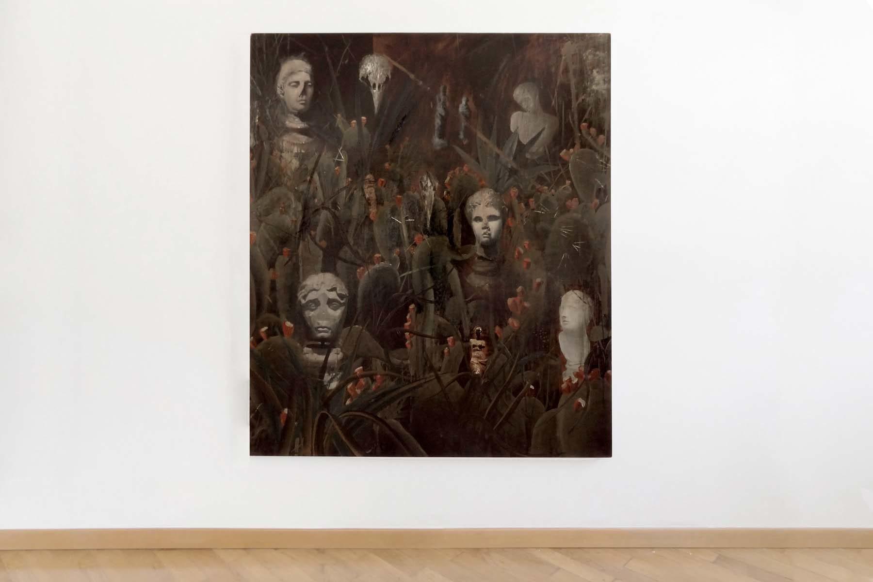 Andrei Ciurdarescu, Me in the garden, show view, Boccanera Gallery, Trento