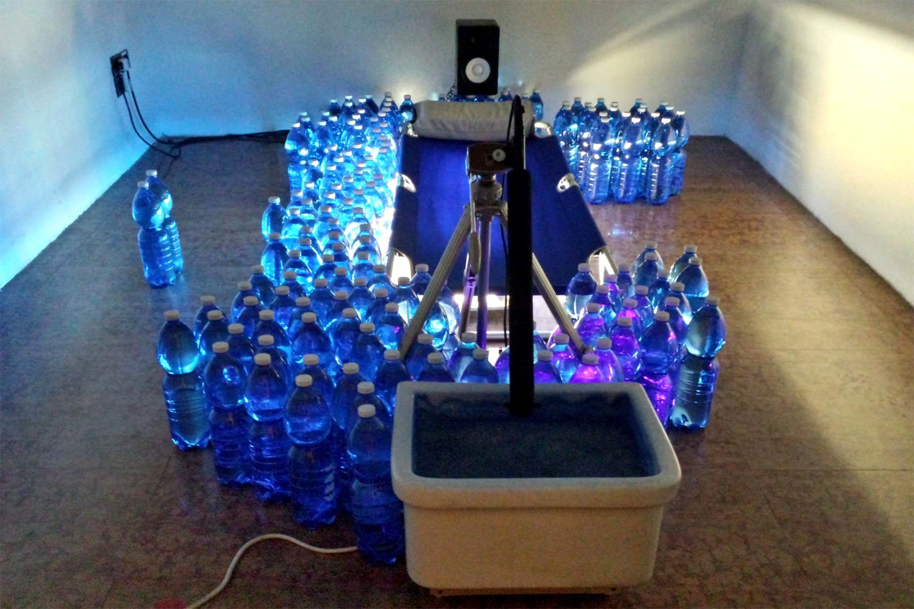 Dario Lazzaretto, Spa – sonic portable aid, 2016, mixed media, audio system, site specific installation