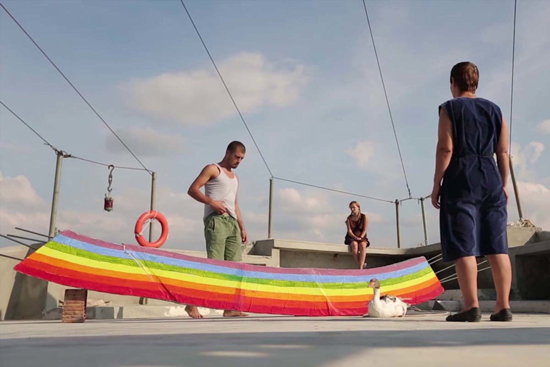 Driant Zeneli, Those who tried to put the rainbow back in the sky, 2012, video, frame 1