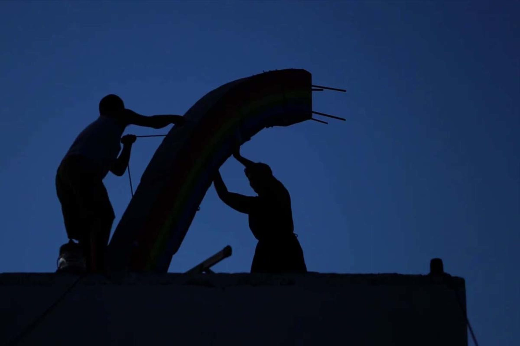 Driant Zeneli, Those who tried to put the rainbow back in the sky, 2012, video, frame 2
