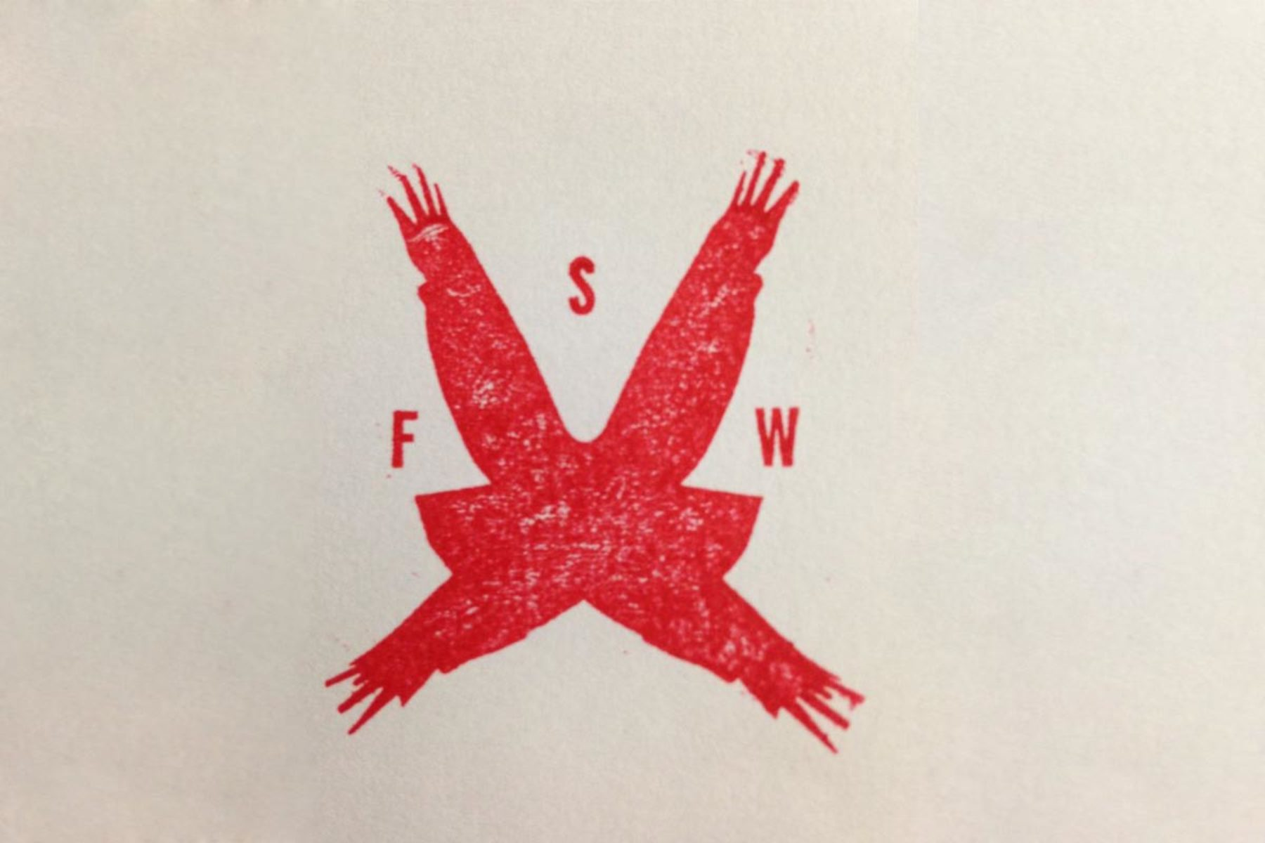 F. Lanaro, FSW, 2013, stamp on paper, 25 x 19 cm