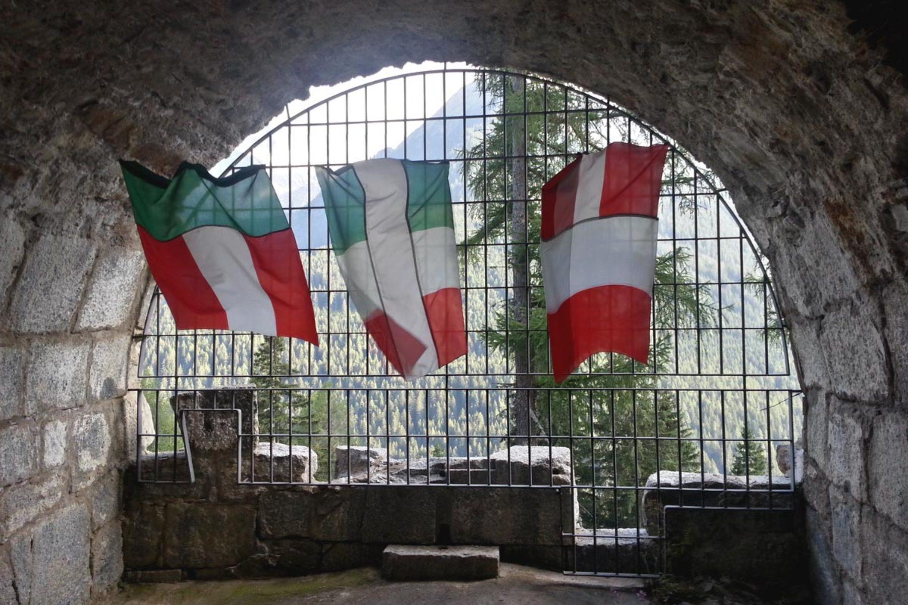 F. Lanaro, IT_A, 2013, sewn flags, installation view, 1