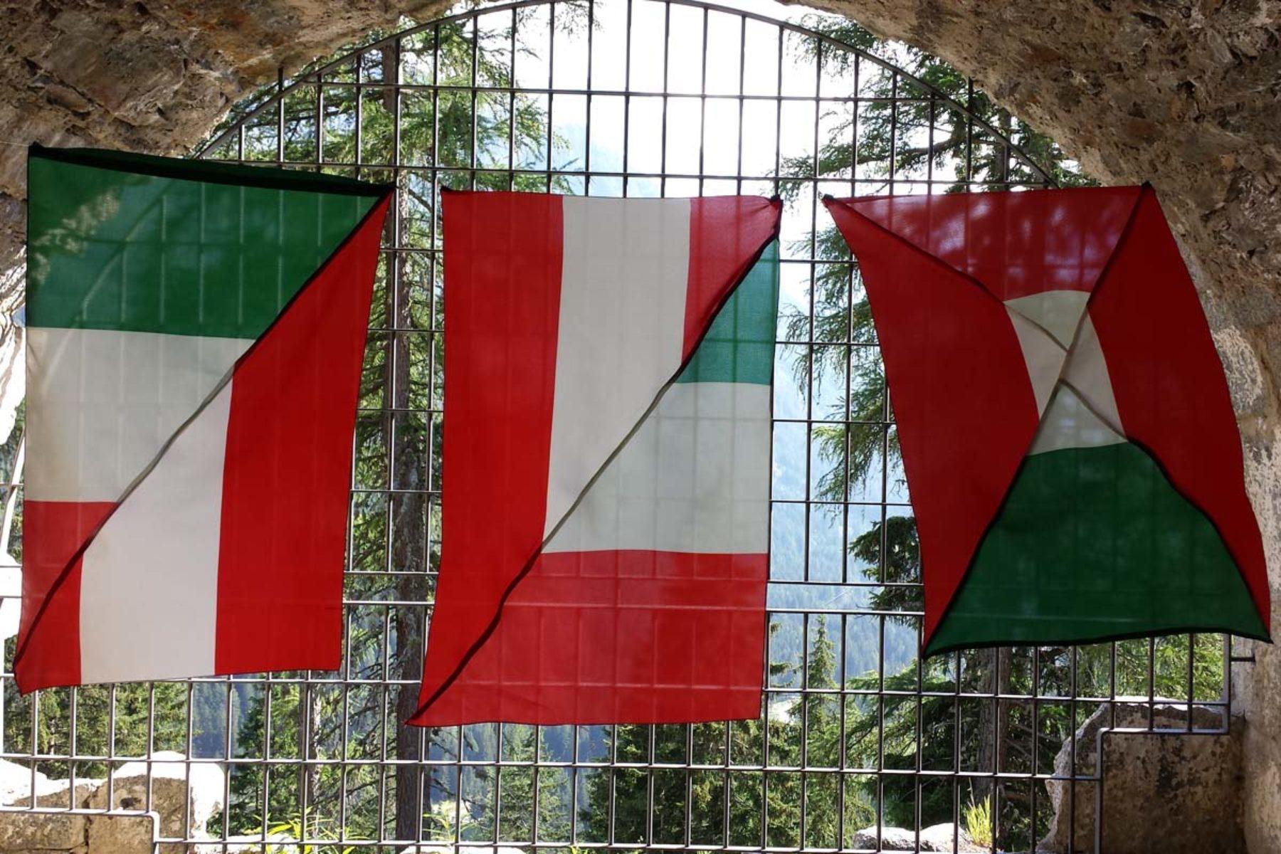 F. Lanaro, IT_A, 2013, sewn flags, installation view, 3