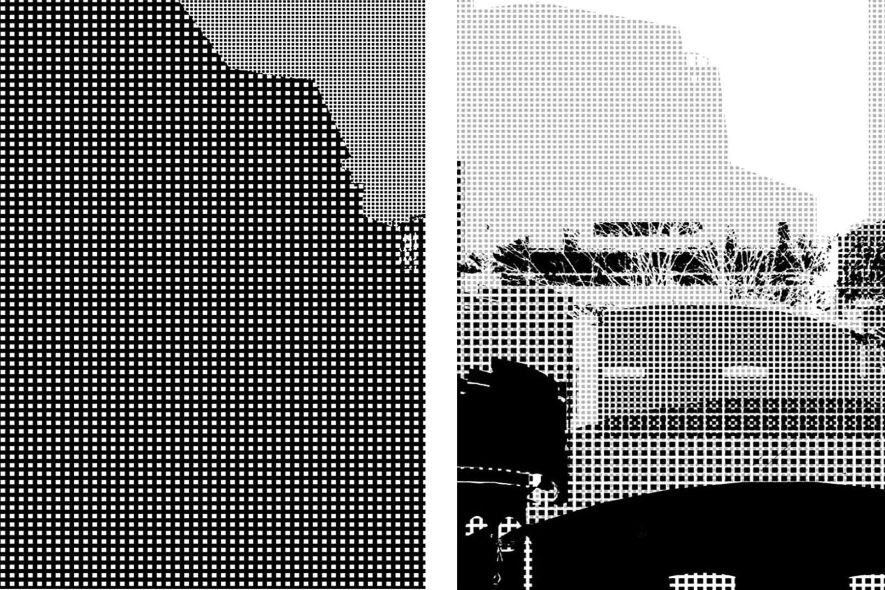 G. Dell'Antonia, Mentre cammino si spostano i luoghi, 2008, inkjet print on aluminium, 105 x 73 cm