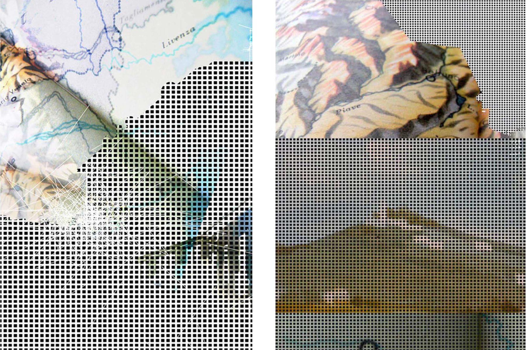 G. Dell'Antonia, Mentre cammino si spostano i luoghi, 2008, lambda print on aluminium, 105 x 73 cm each