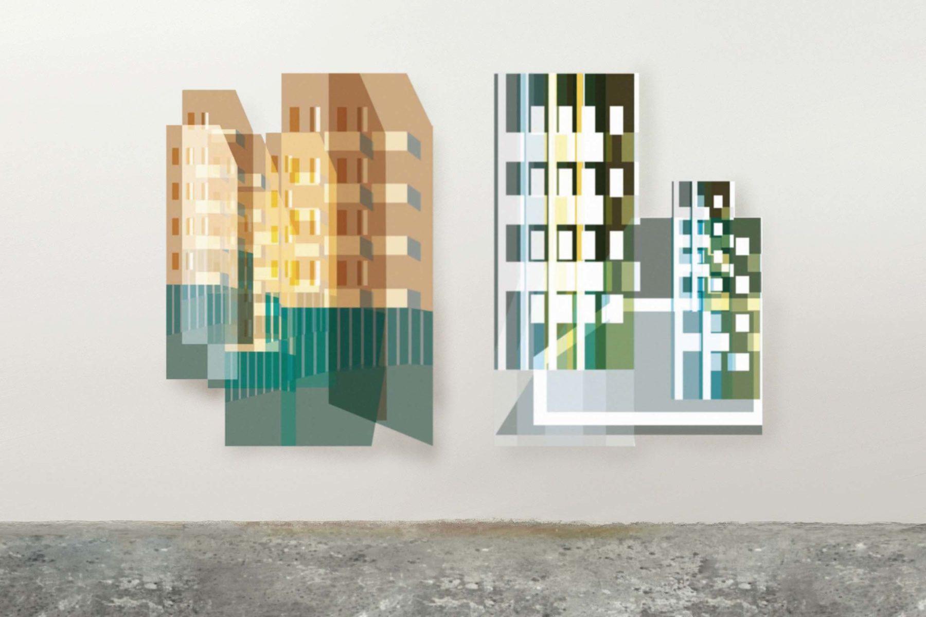 G. Dell'Antonia, Mentre cammino si spostano i luoghi, 2008, lambda print on aluminium, plexiglas