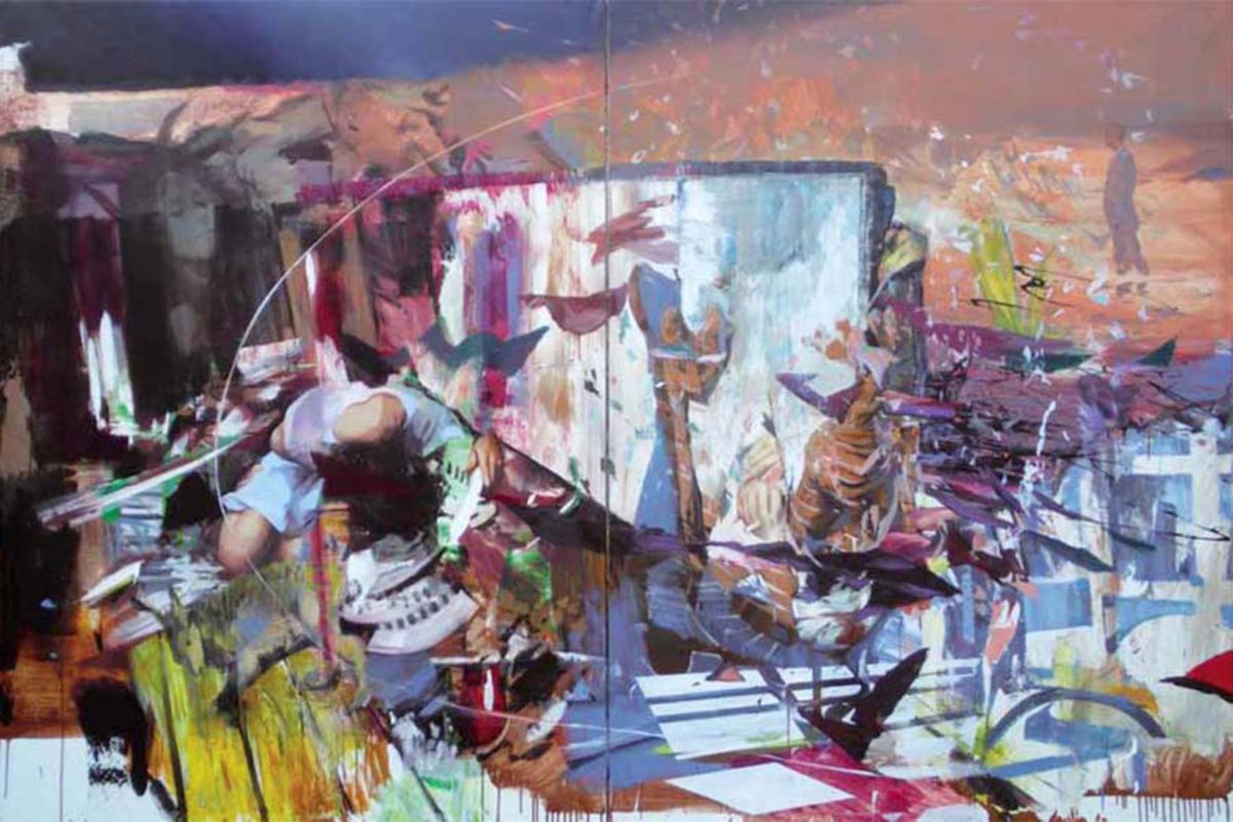 Giuseppe Gonella, Ancient reef, 2010, acrylic on canvas, 200 x 300 cm