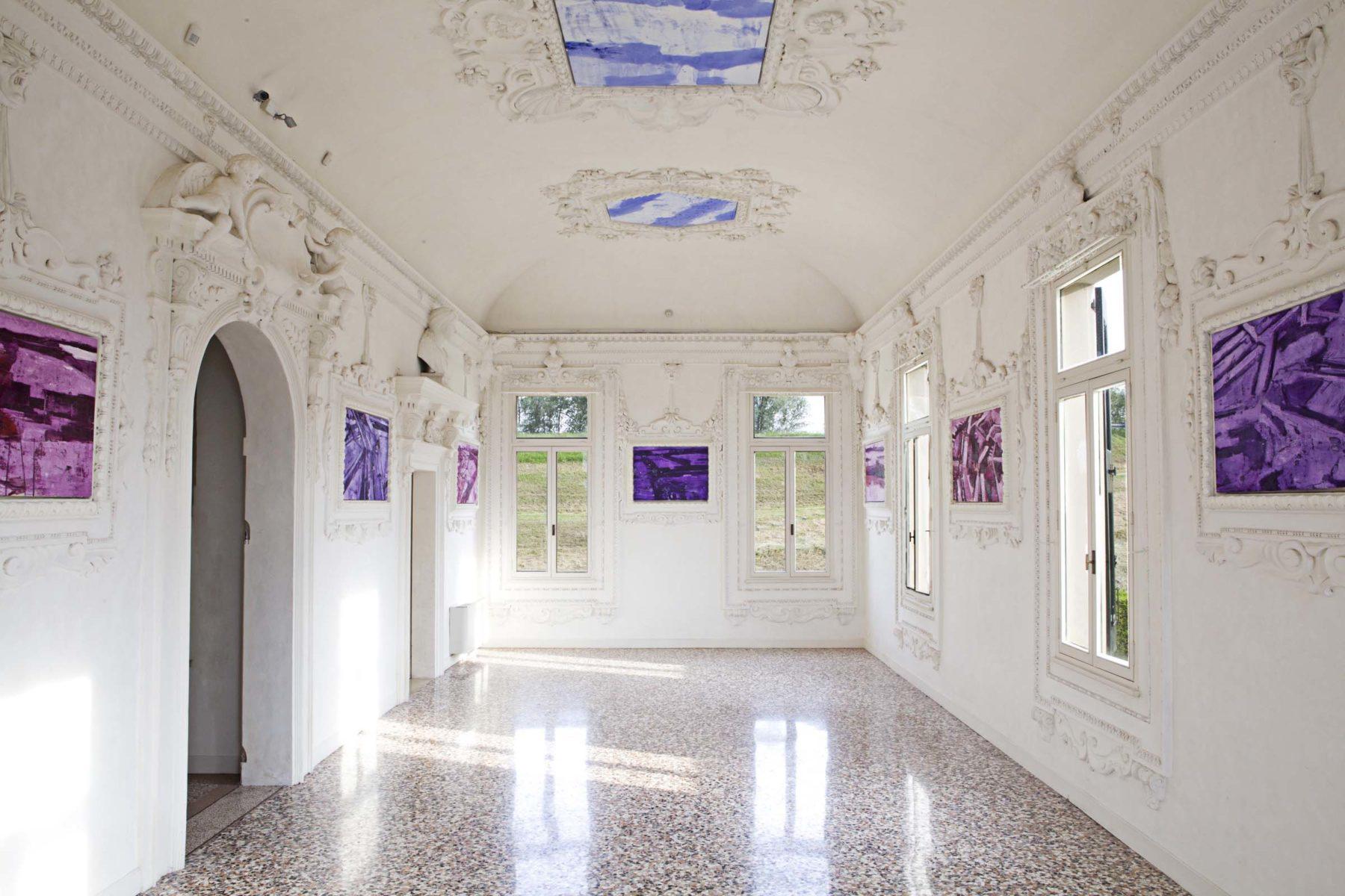 G.Frangi, Mappe, 2012, tecnica mista su tela, presso Villa Morosini, ph.a.frangi 01