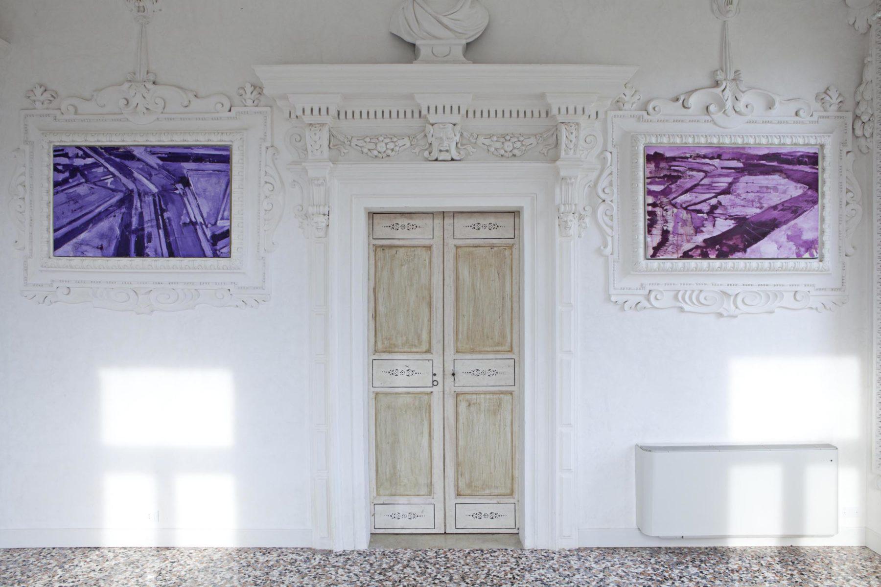 G.Frangi, Mappe, 2012, tecnica mista su tela, presso Villa Morosini, ph.a.frangi 02