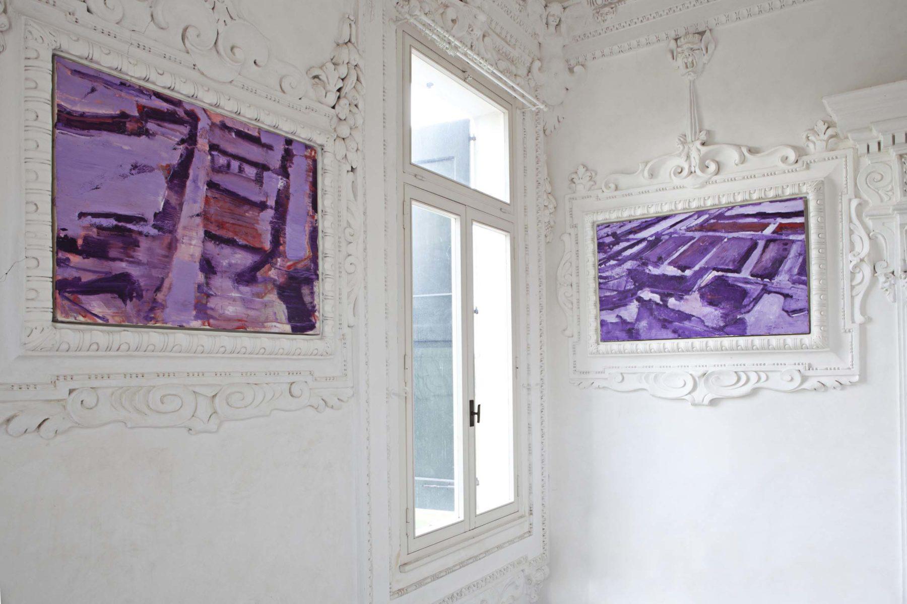 G.Frangi, Mappe, 2012, tecnica mista su tela, presso Villa Morosini, ph.a.frangi 03