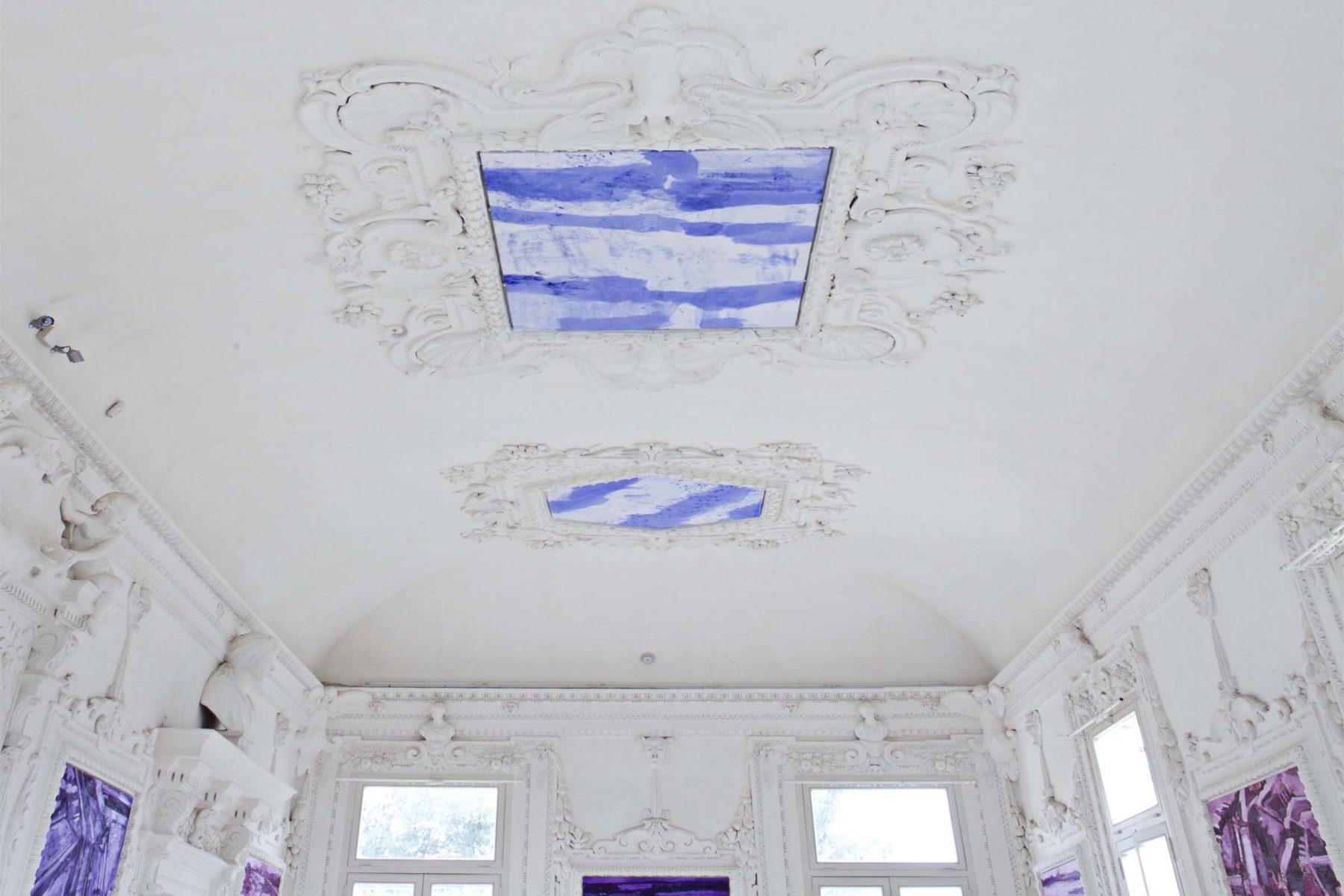 G.Frangi, Mappe, 2012, tecnica mista su tela, presso Villa Morosini, ph.a.frangi 08