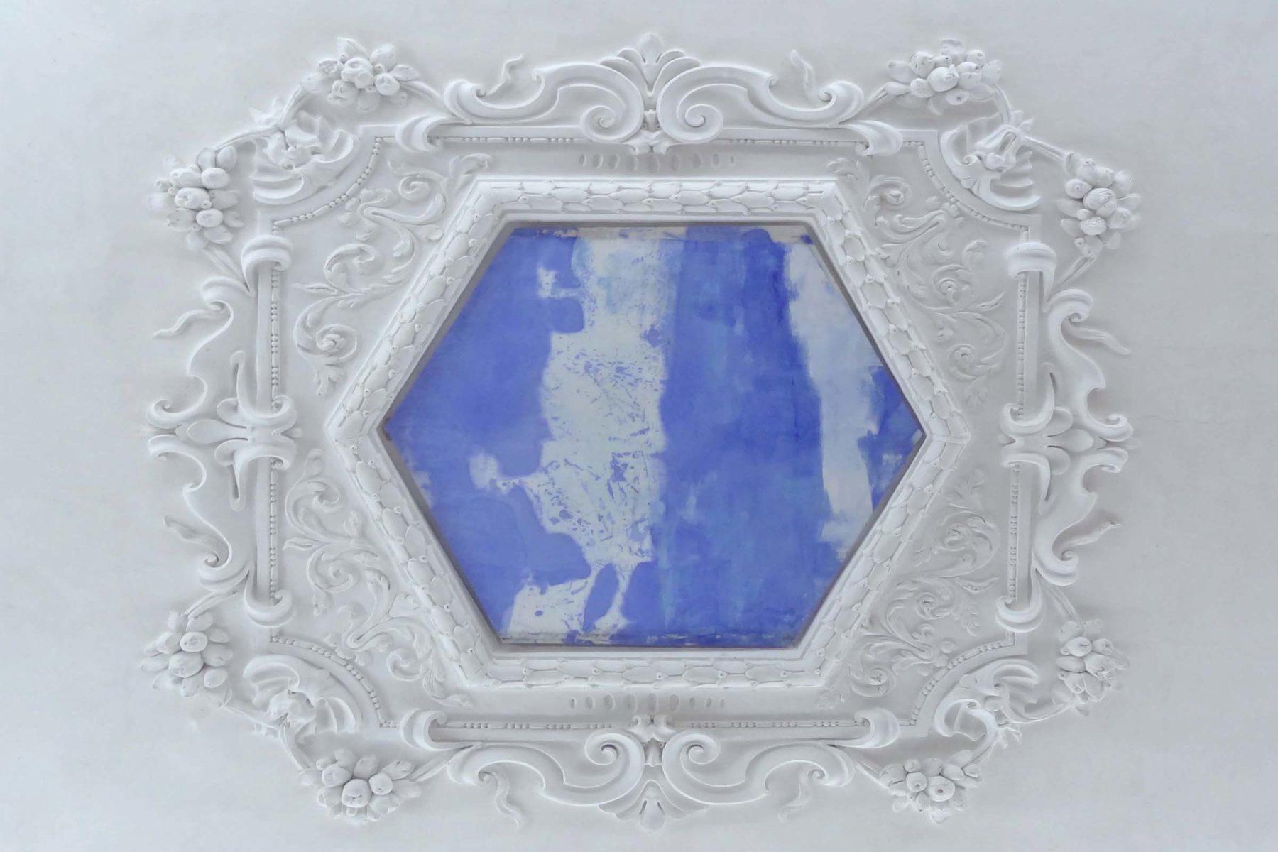 G.Frangi, Mappe, 2012, tecnica mista su tela, presso Villa Morosini, ph.d.capra