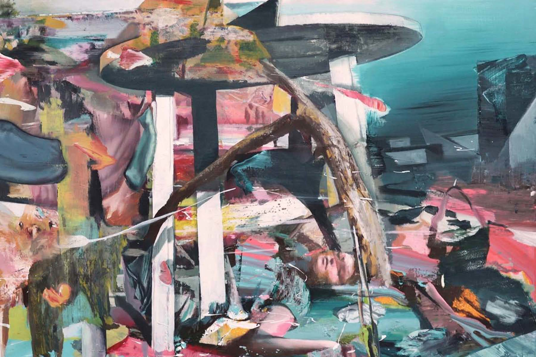 Giuseppe Gonella, Untitled, 2011, acrylic on canvas, 150 x 150 cm