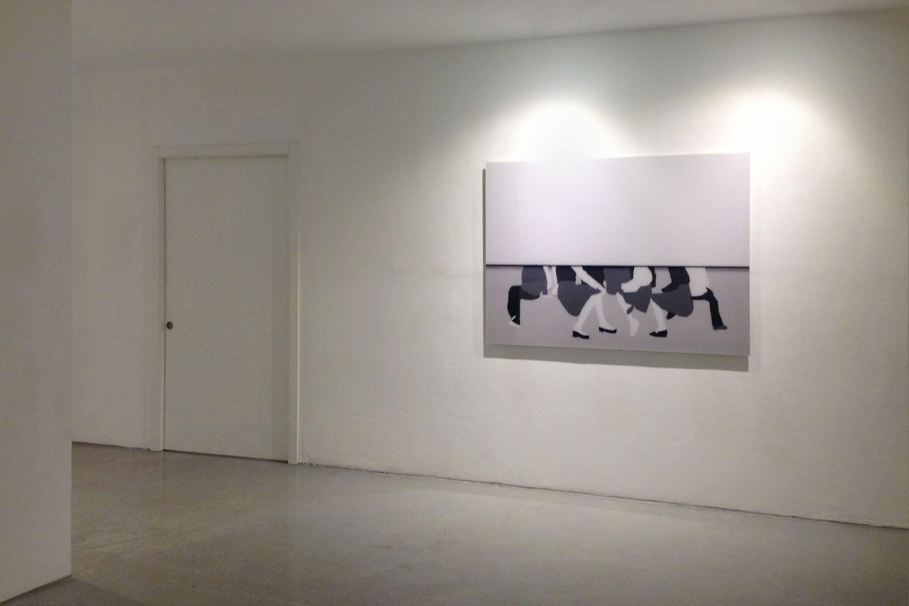 I. Eškinja, Infinity paper, 2013, show view at Deanesi Gallery, 01