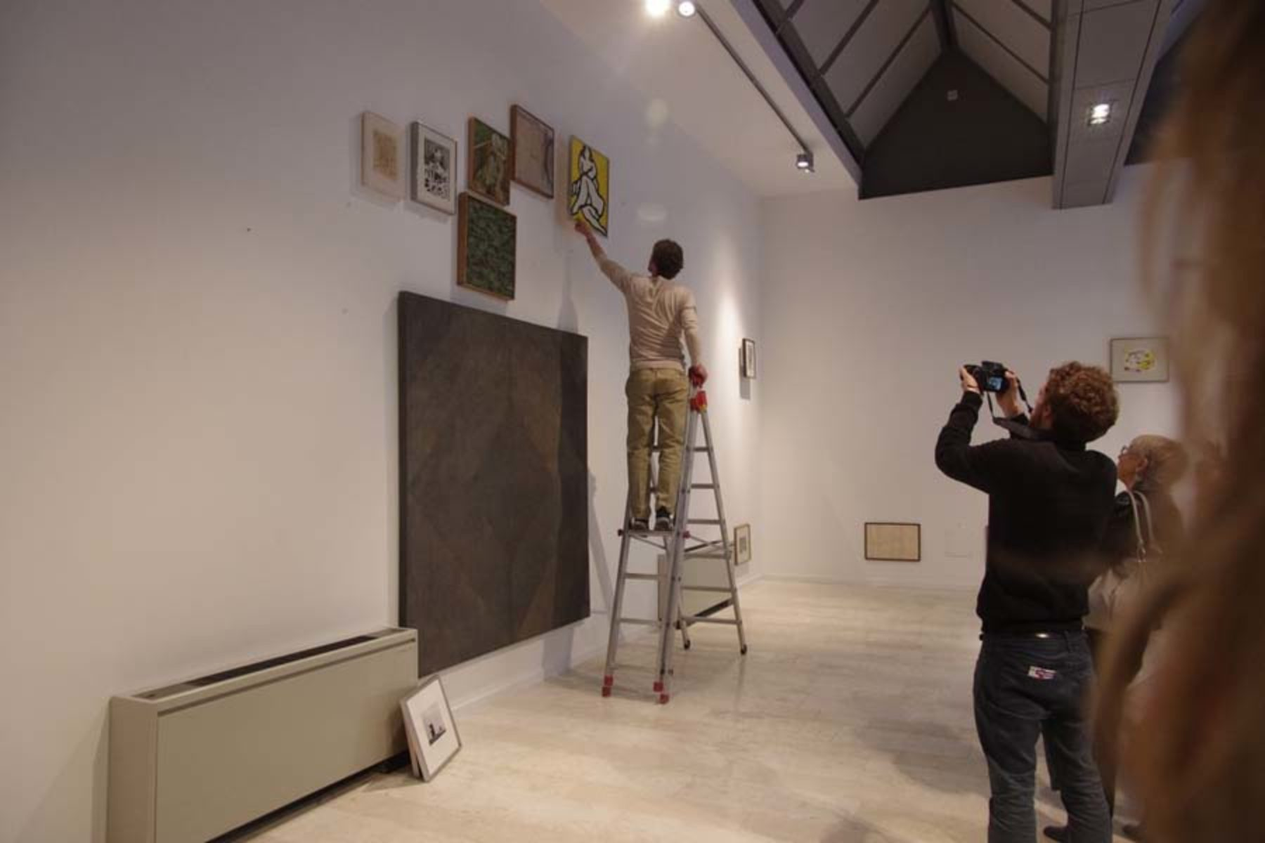 Ivan Moudov, 19 Problems, 18 Paintings, 2013, performance and site specific installation